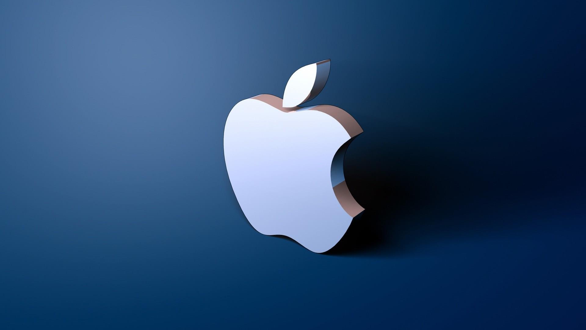 Res: 1920x1080, Fantastic Apple 3D Logo Wallpaper