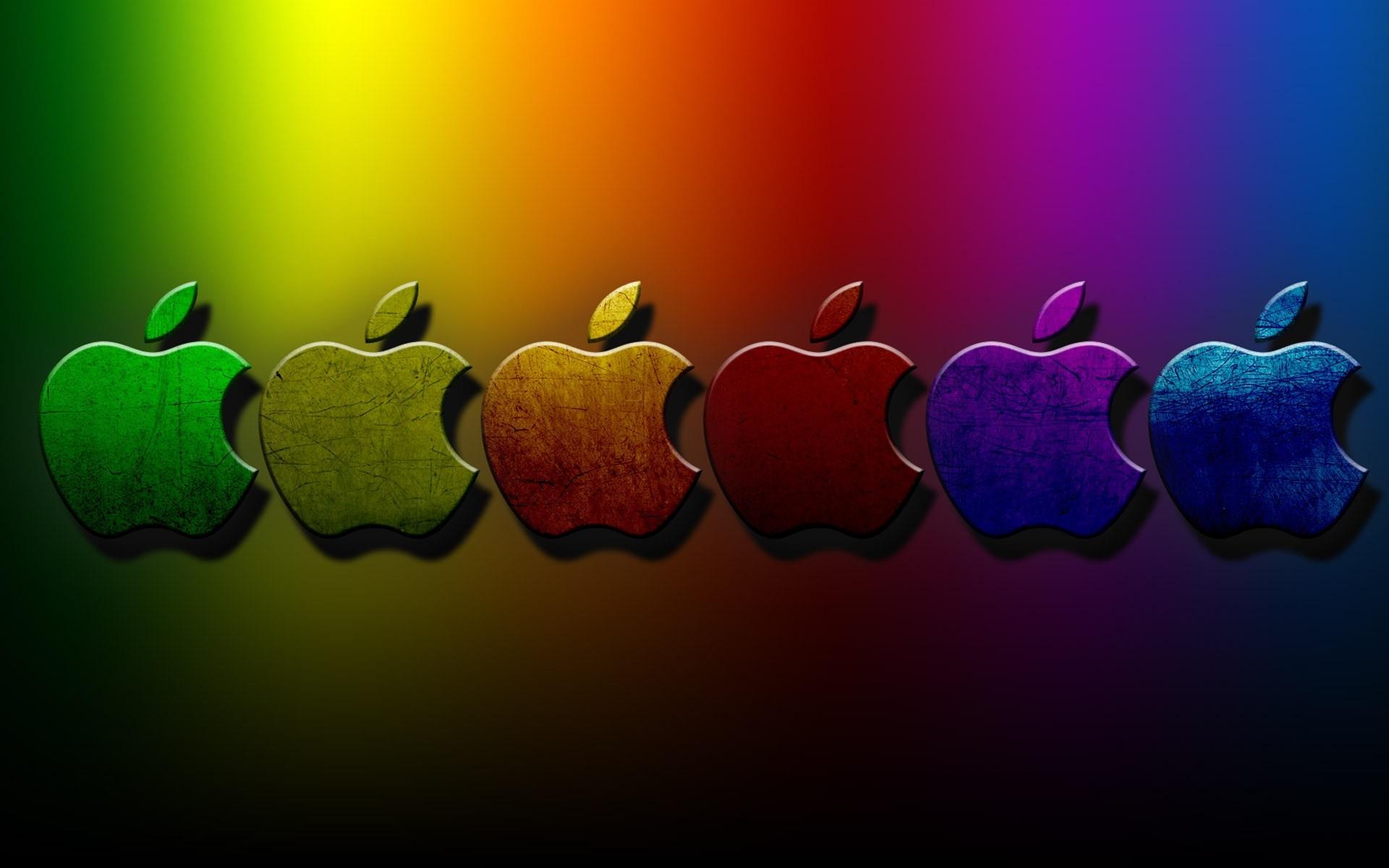 Res: 1920x1200, 3D Apple Colorful Wallpaper.