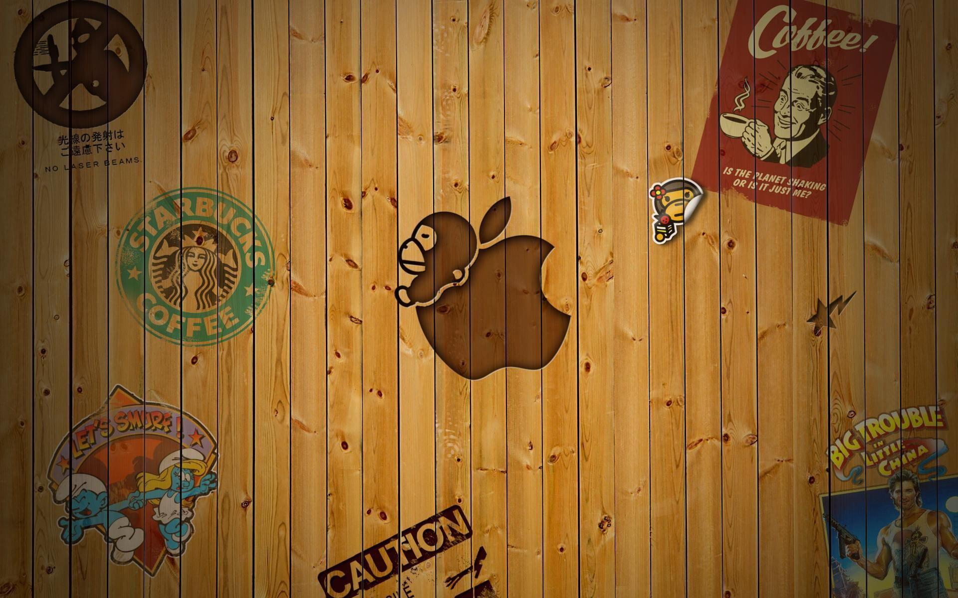 Res: 1920x1200, wood wallpaper apple 3d. Â«Â«