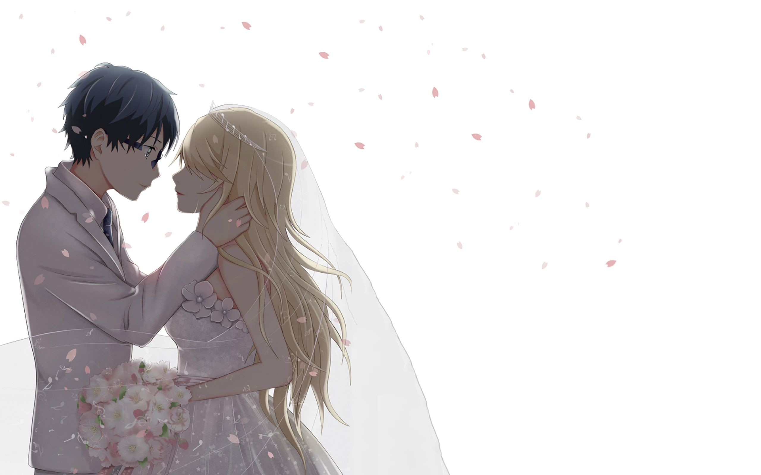 Res: 2560x1600, Beautiful Anime Couple Wallpaper HD Images – One HD Wallpaper .