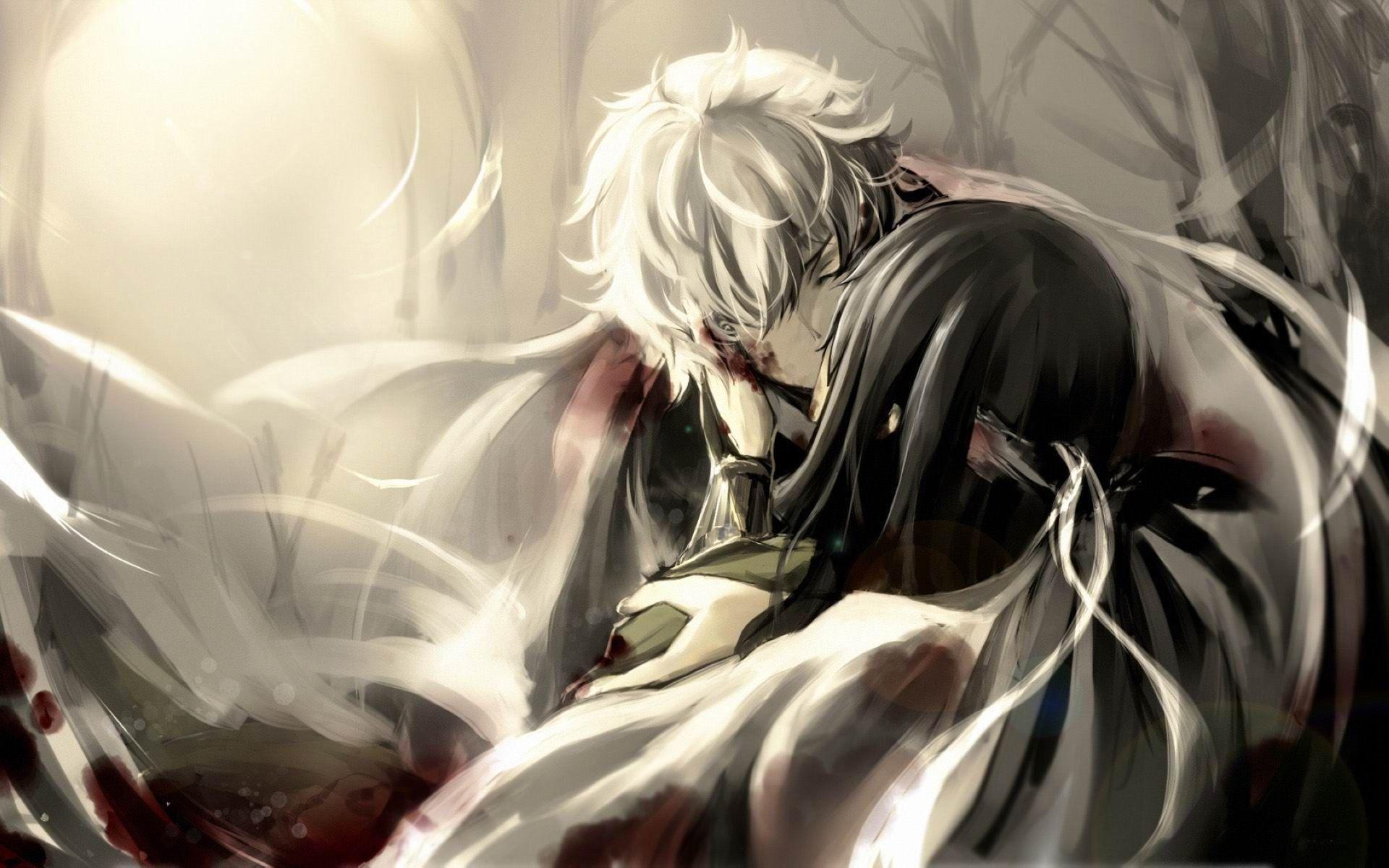 Res: 1920x1200, Cute Anime Couple Hugging HD Wallpaper - Beraplan.com