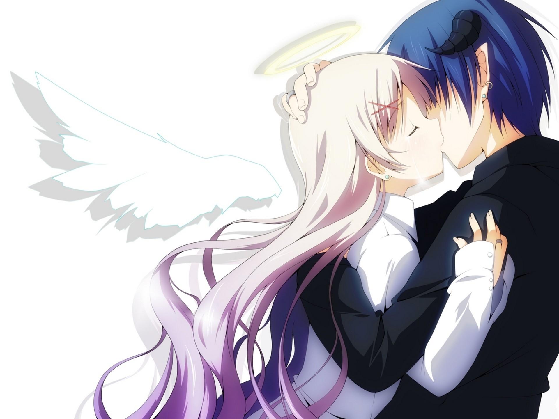 Res: 1920x1440, Anime Couple, Kissing, Romance