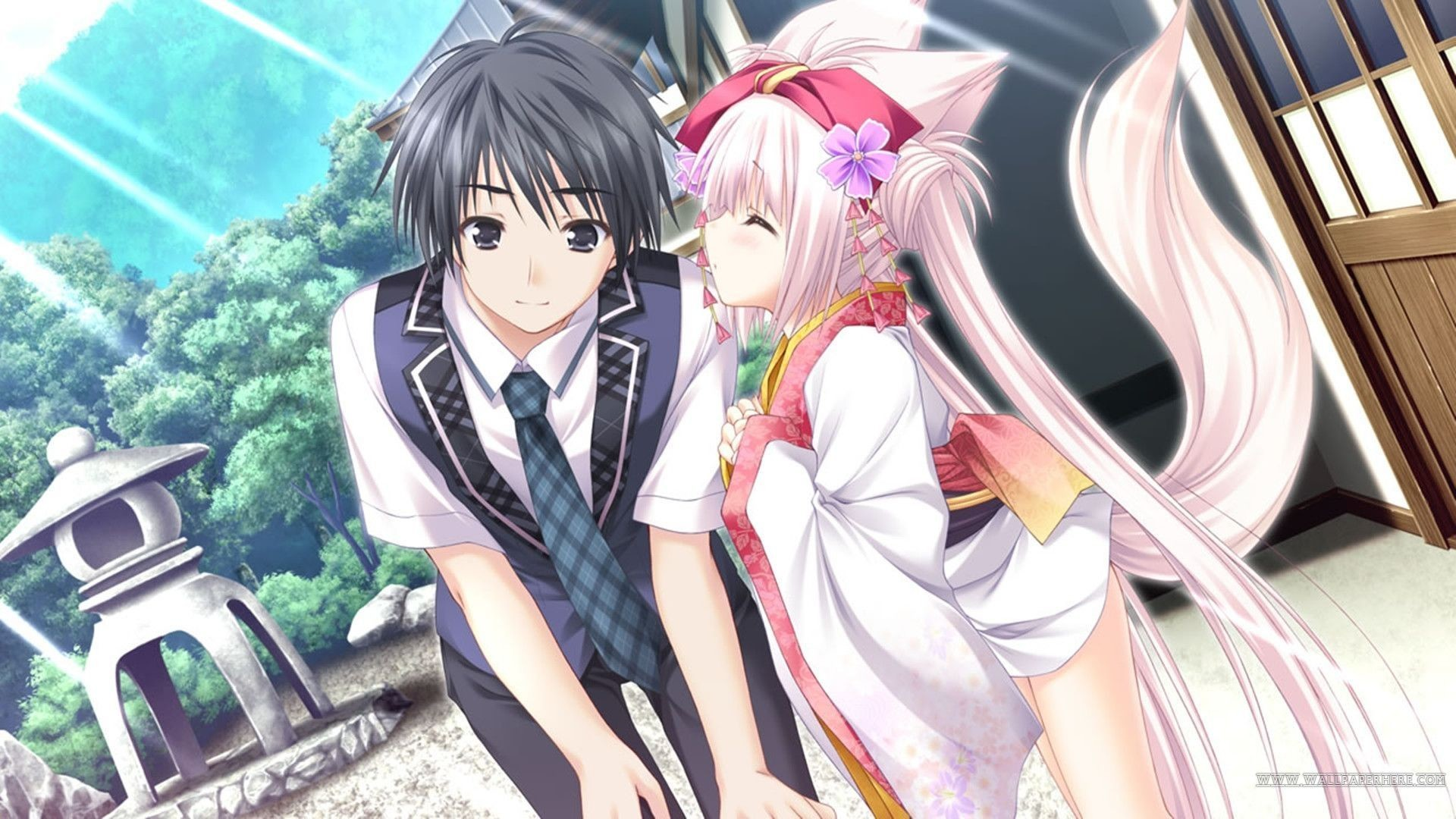Res: 1920x1080, wallpaper.wiki-Free-Download-Cute-Anime-Couple-Wallpaper-