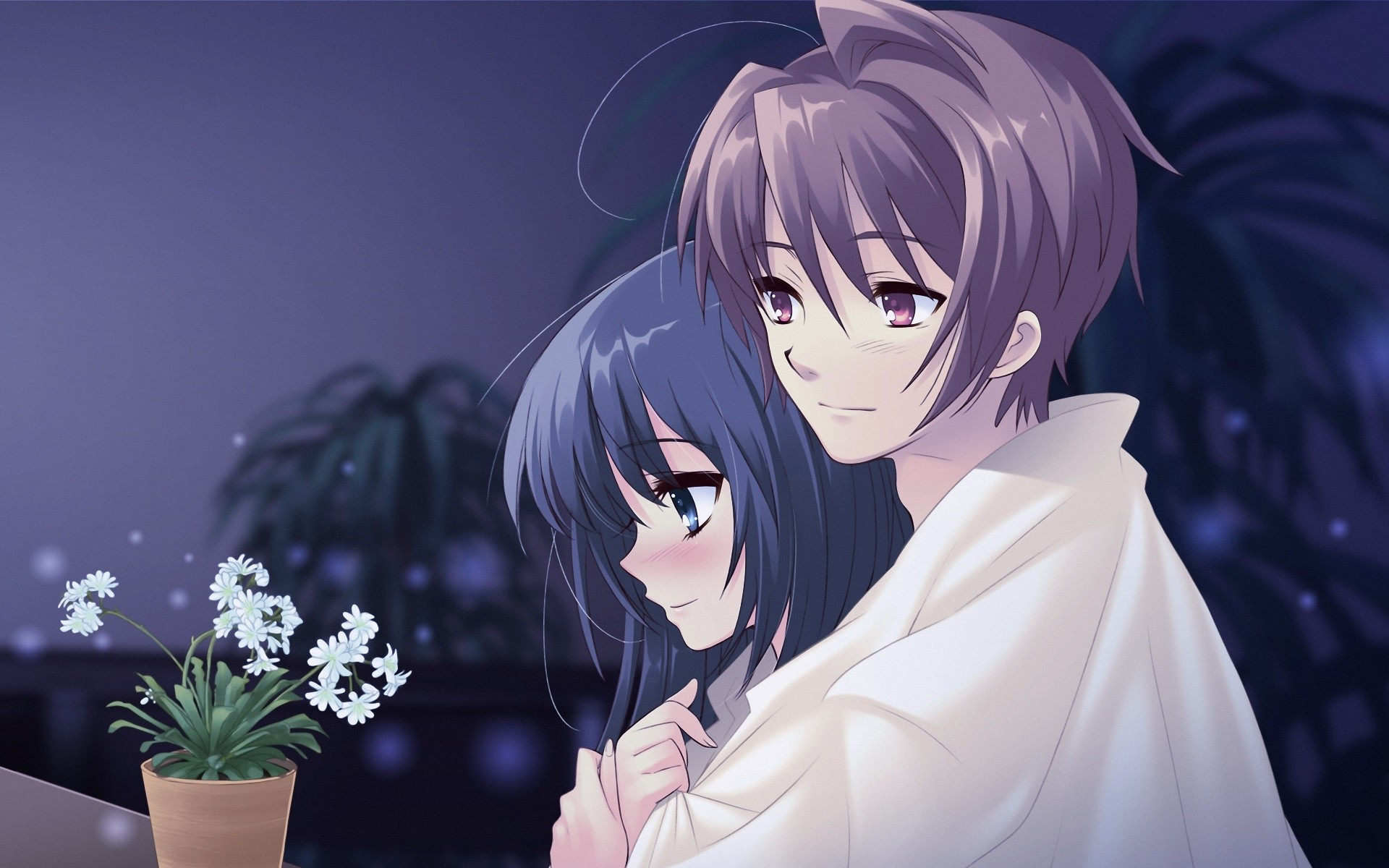 Res: 1920x1200, Cute Anime Couple HD Wallpapers.