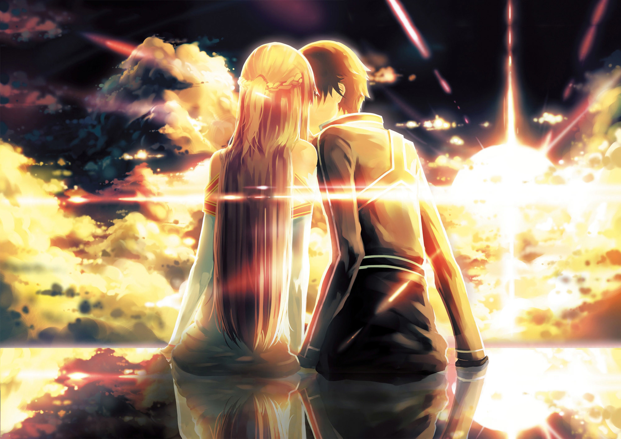 Res: 2000x1414,  Download Free Cute Anime Couple Backgrounds | PixelsTalk.Net ·  Download · cute anime couple wallpaper ...