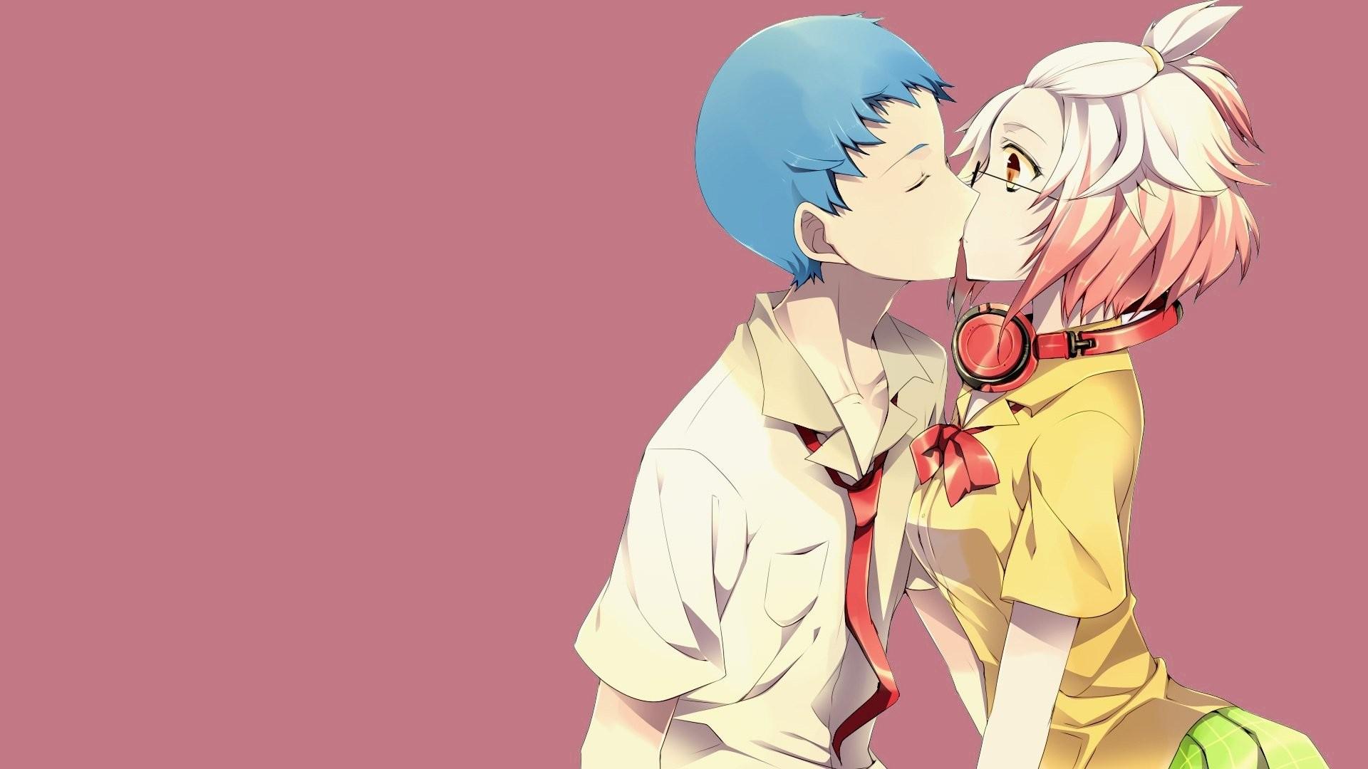 Res: 1920x1080, Anime Couple Kiss Wallpaper