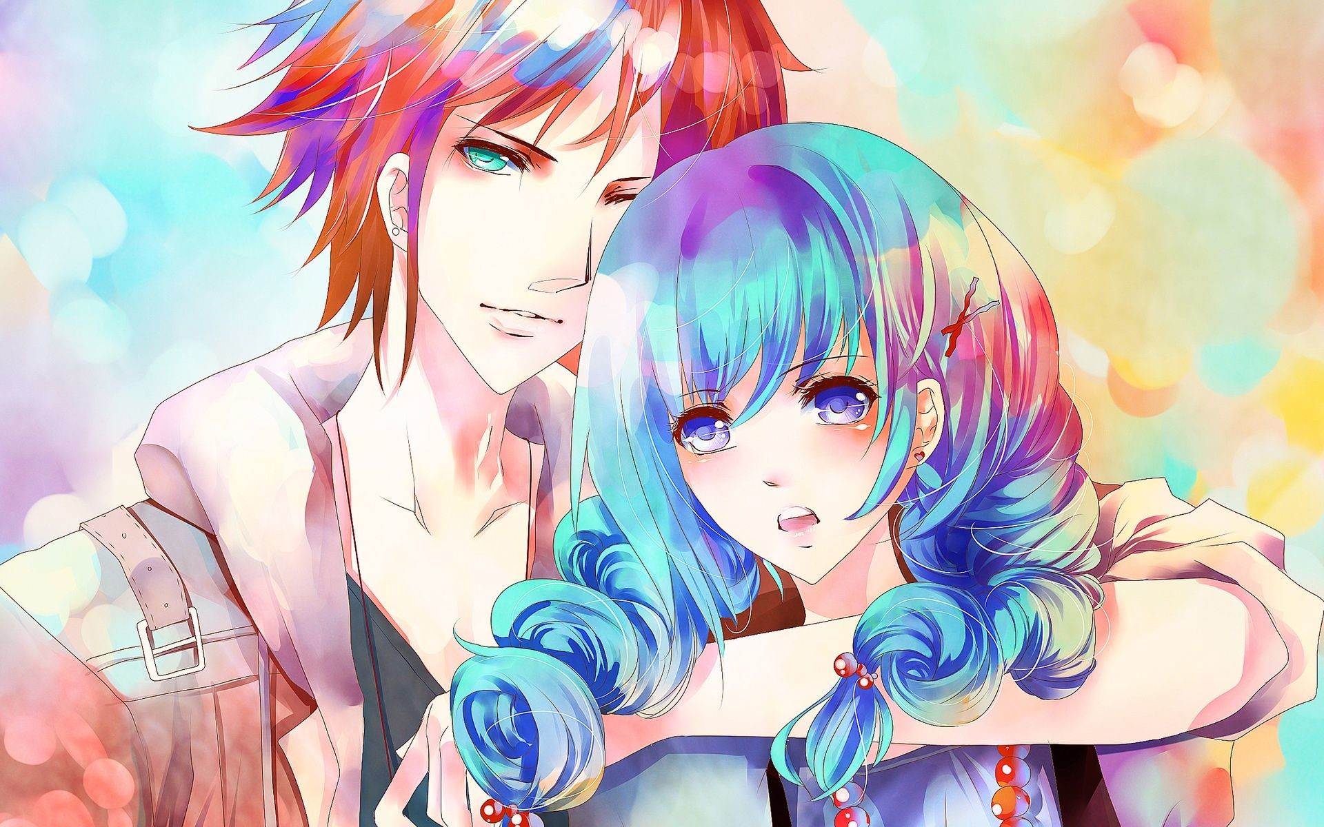 Res: 1920x1200, Anime Girl And Boy Wallpaper #W5l