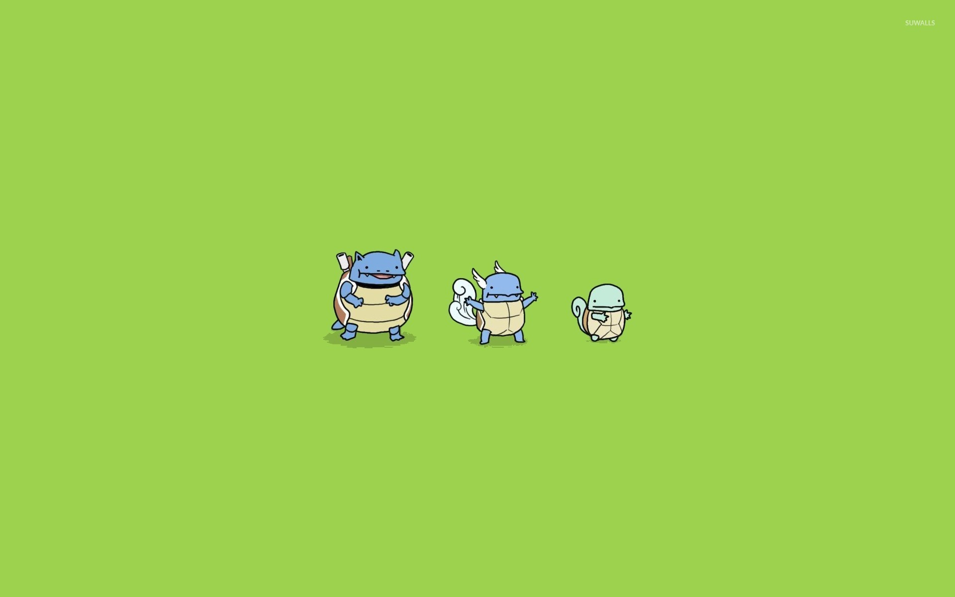 Res: 1920x1200, Wartortle, Squirtle and Blastoise - Pokemon wallpaper