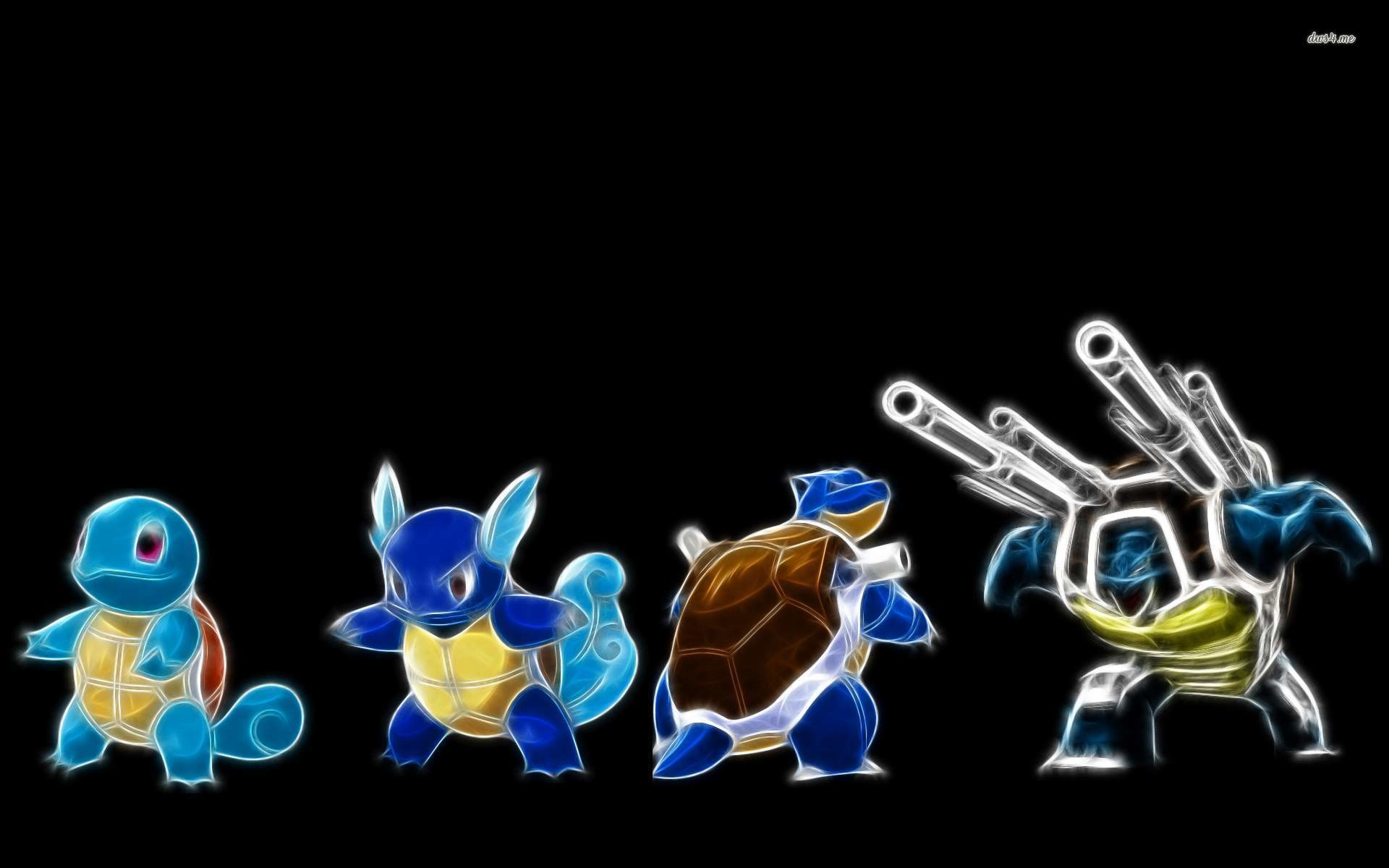 Res: 1920x1200, ... Blastoise, Squirtle, Wartortle and Master wallpaper  ...