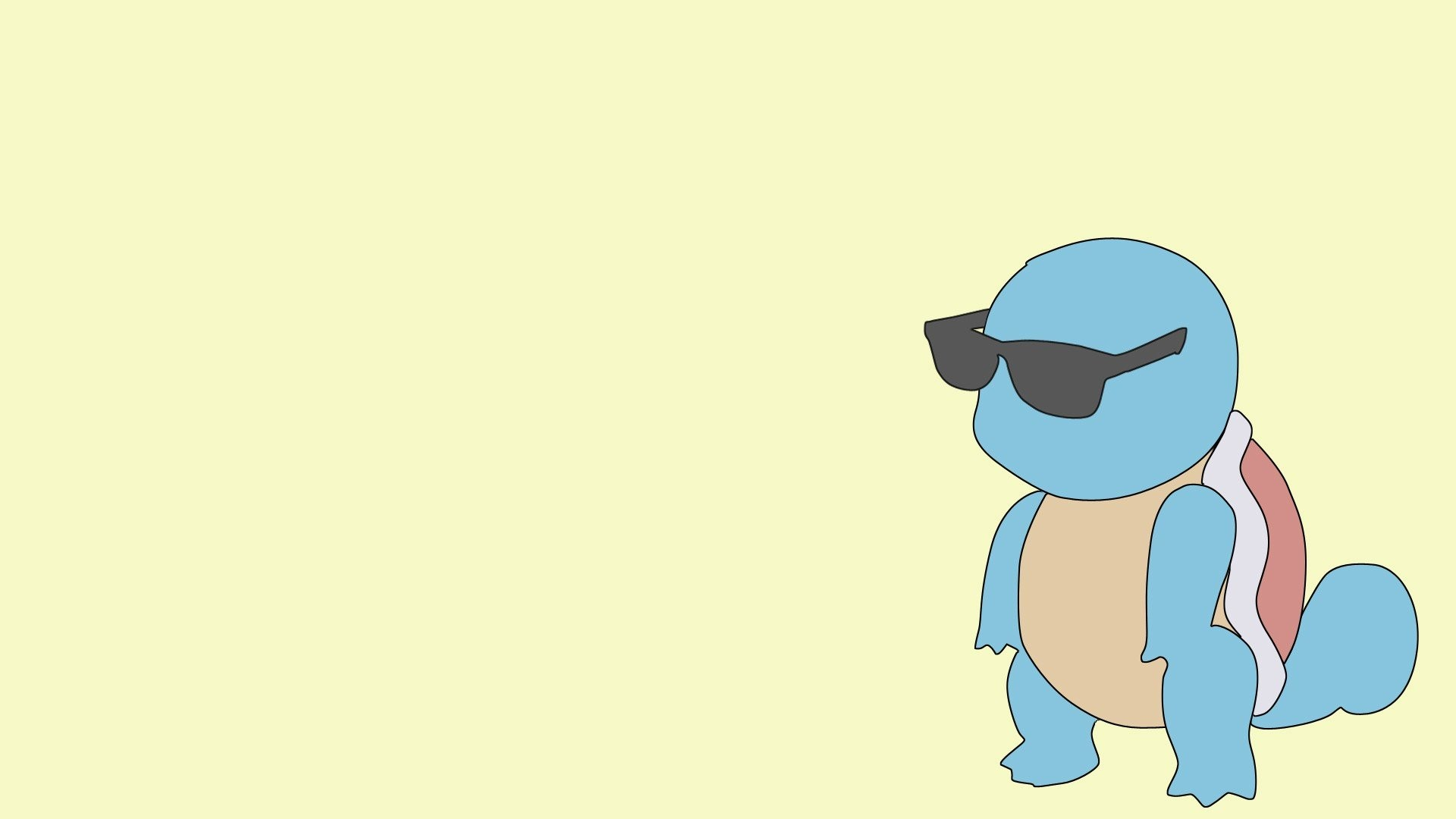 Res: 1920x1080, Pokemon, Sunglasses, Blue, Yellow, Squirtle HD Wallpapers / Desktop and  Mobile Images & Photos