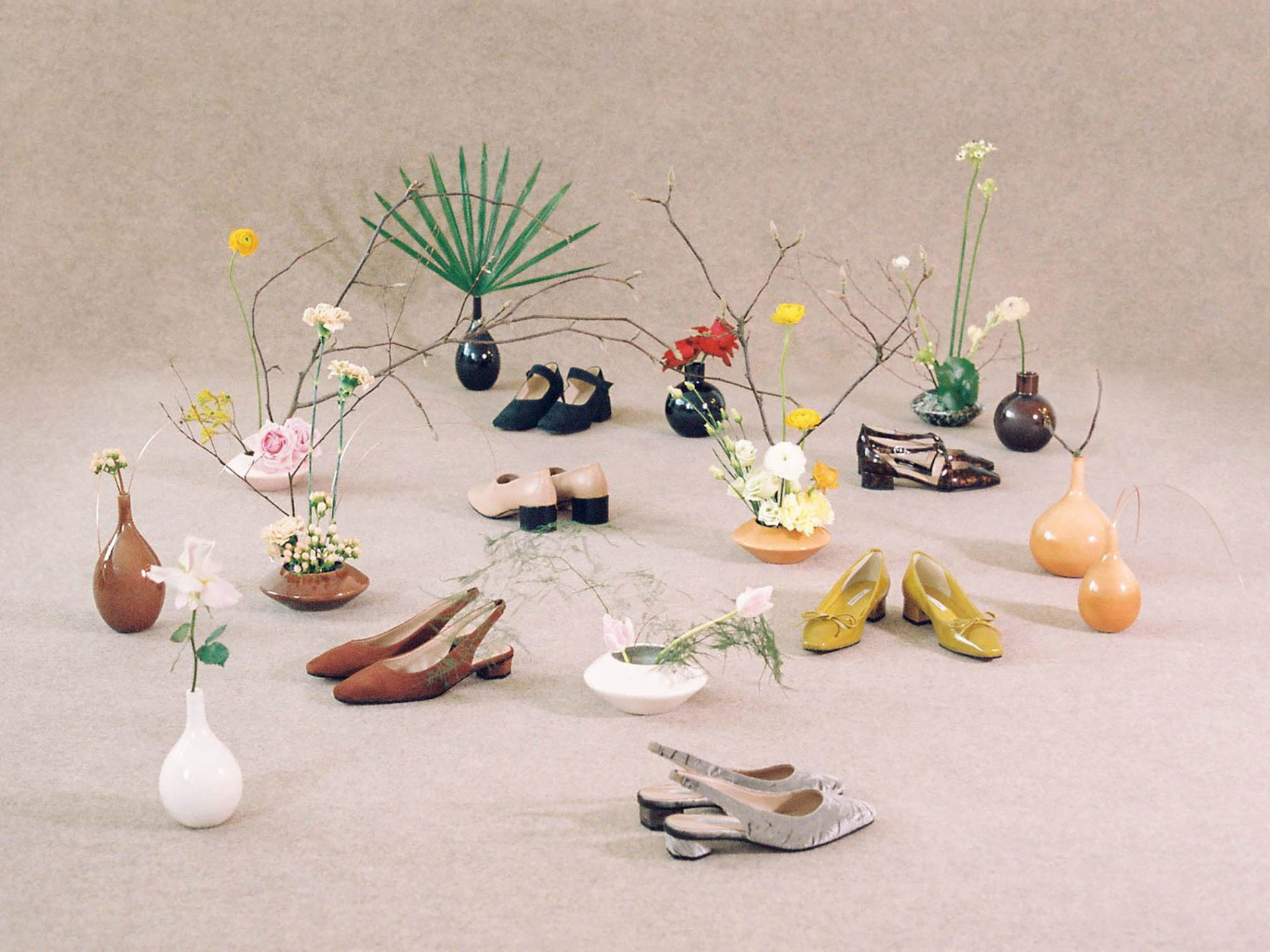 Res: 1920x1440, ikebana art and ceramics by Matagalán photography by Julien Pounchou