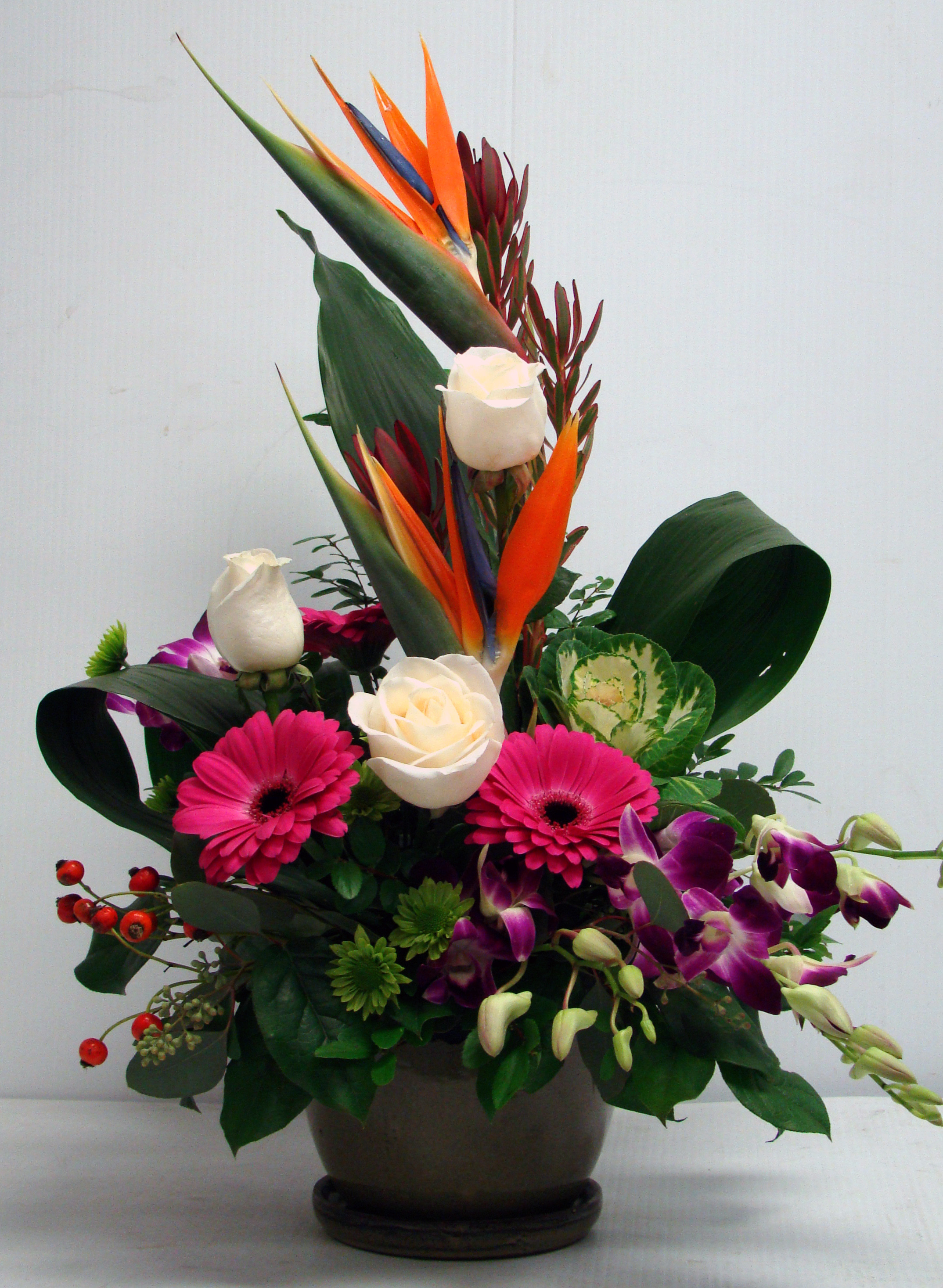 Res: 2148x2934, JNS-042 IKEBANA WITH TROPICAL