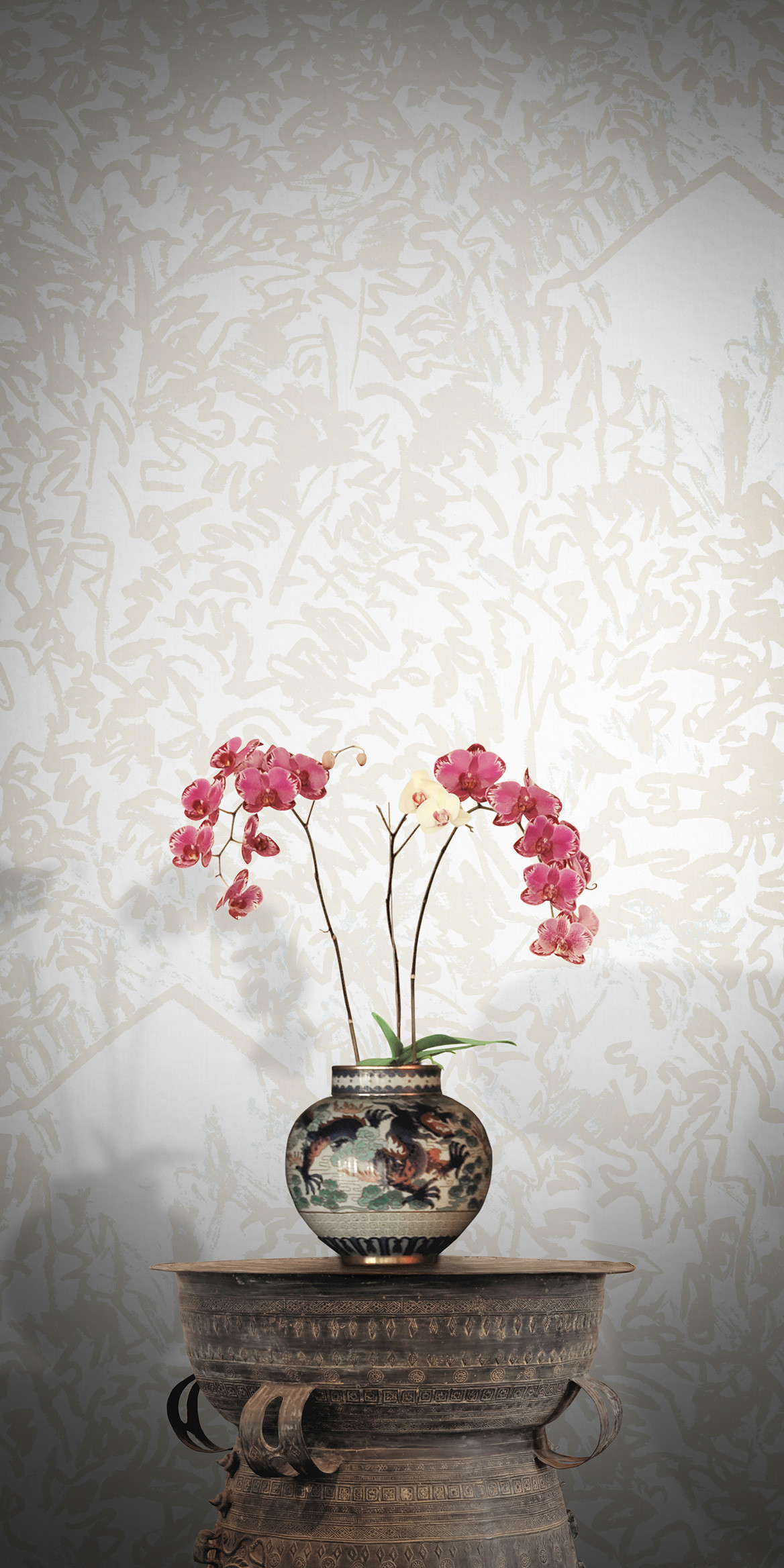 Res: 1168x2336, Check out more Feathr floral wallpapers here and get ideas how to create  stunning and elegant floral spaces.