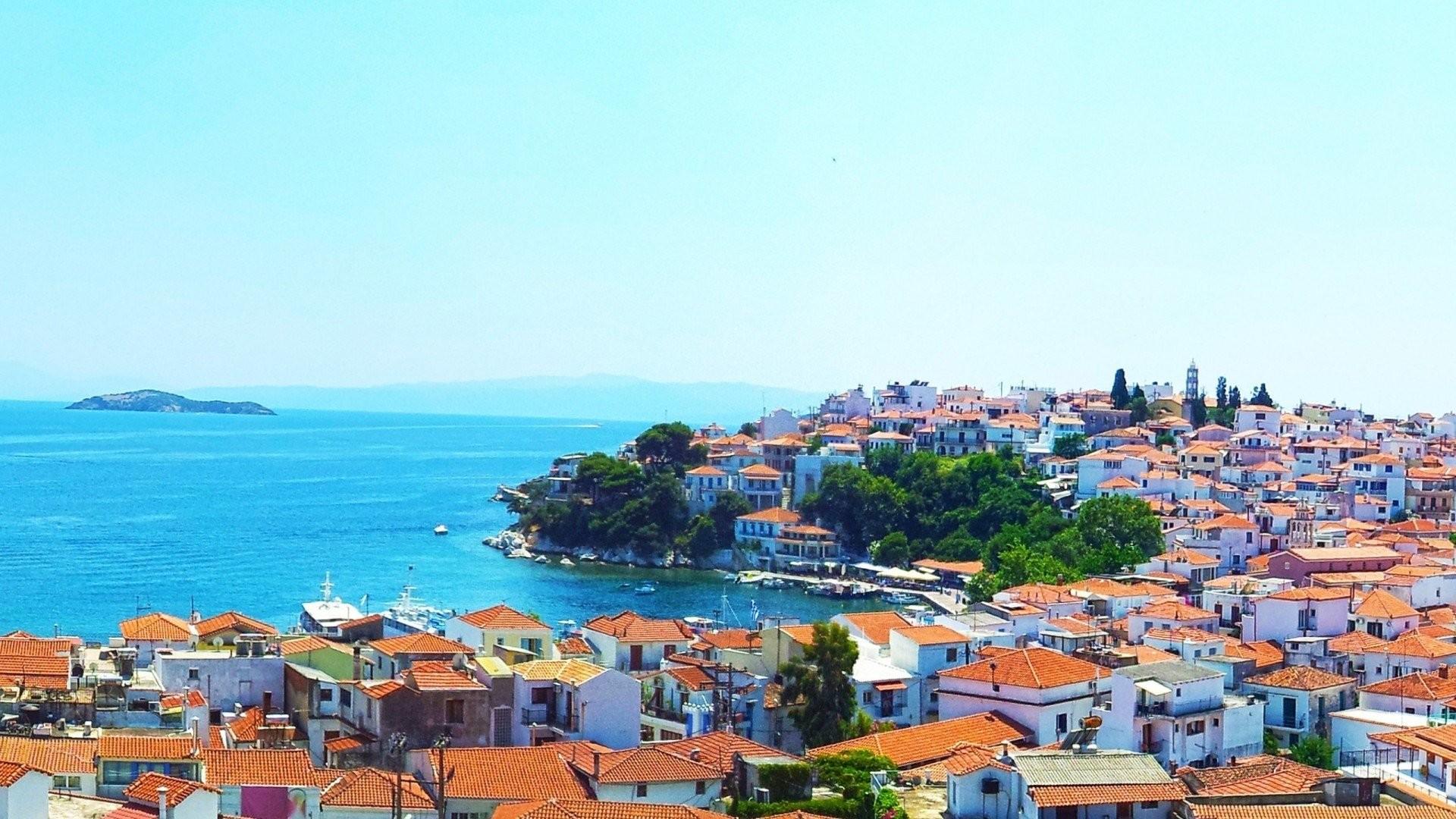Res: 1920x1080, mediterranean town coast