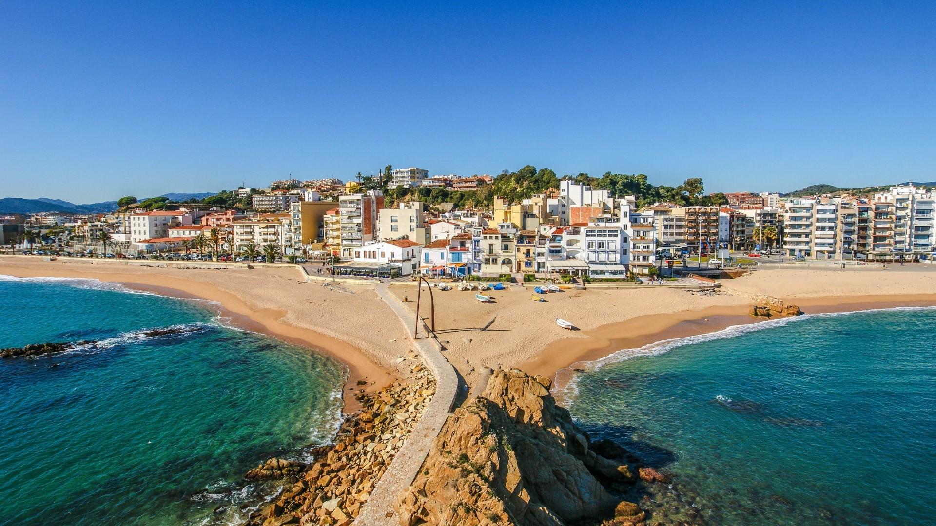 Res: 1920x1080, Full HD Wallpaper Ibiza mediterranean sea beach