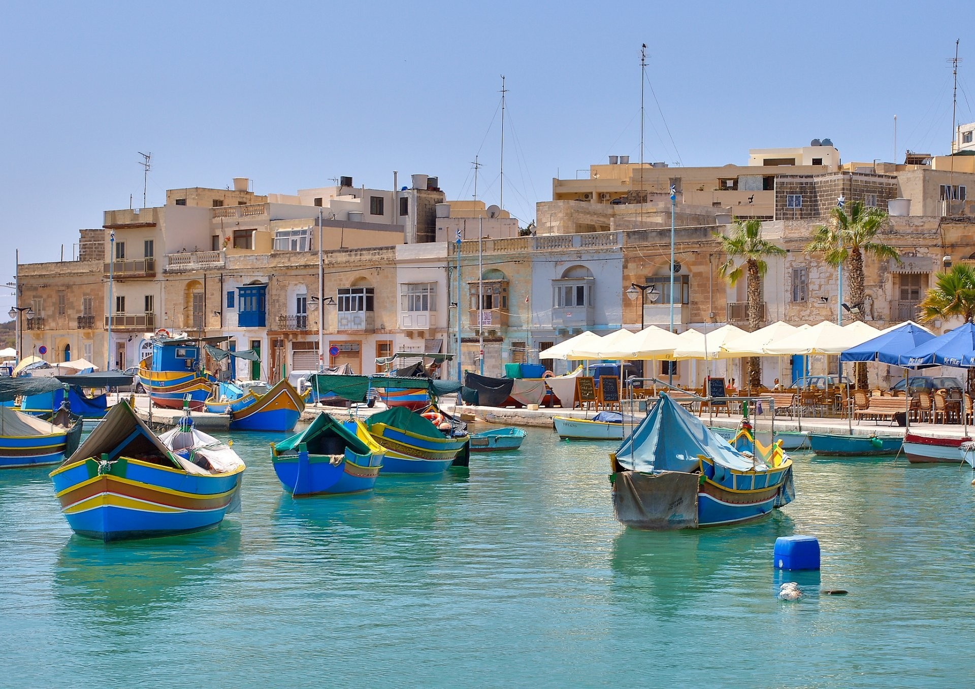 Res: 1920x1358, malta marsaxlokk town mediterranean sea boat pier house buildings