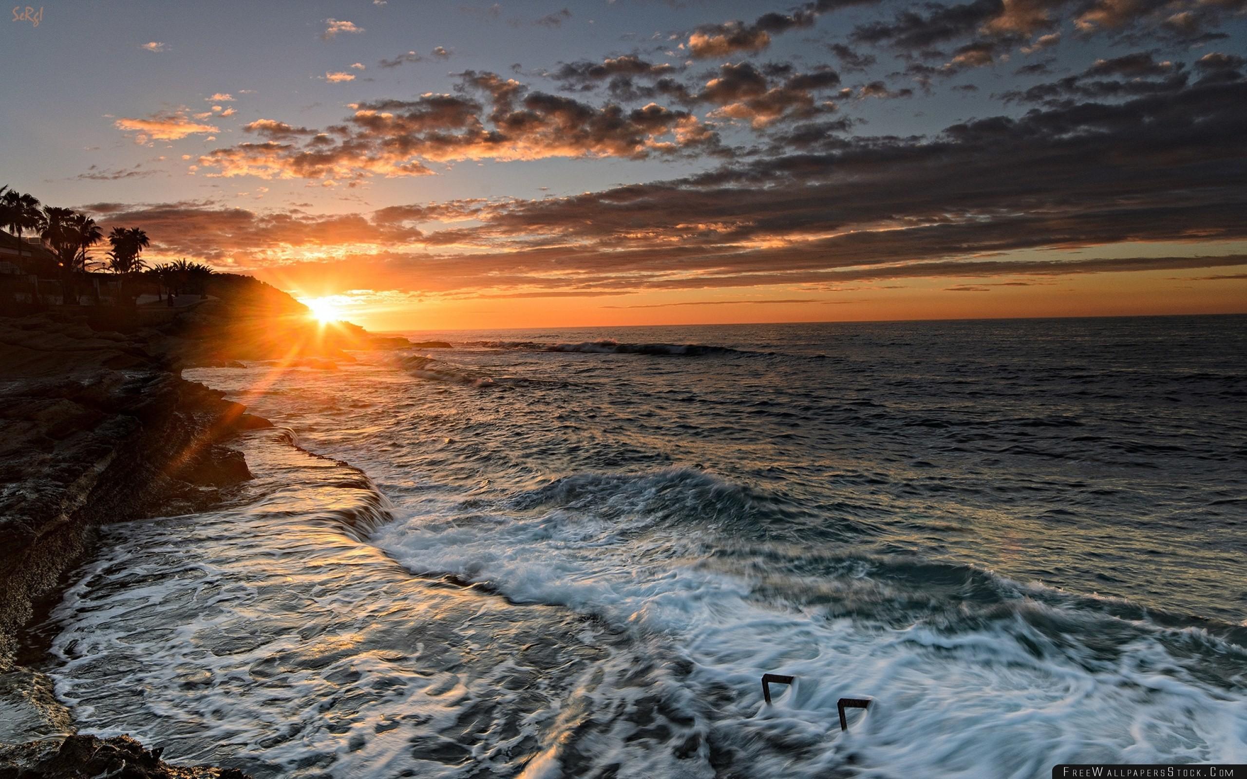 Res: 2560x1600, Alicante Valencia Spain The Mediterranean Sea Sunset Wallpaper
