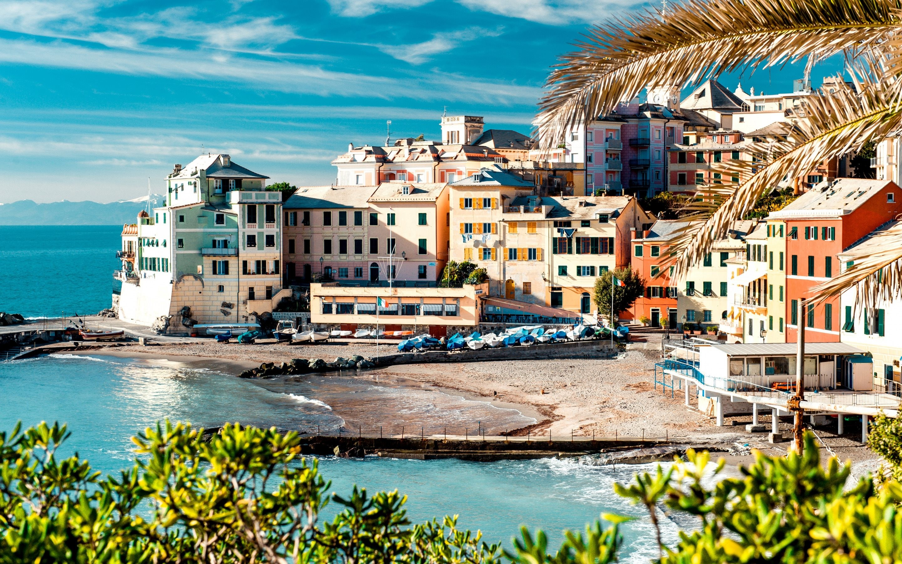 Res: 2880x1800, Download wallpapers Cinque Terre, evening, coast, resort, Mediterranean,  summer, Italy for desktop with resolution . High Quality HD  pictures ...
