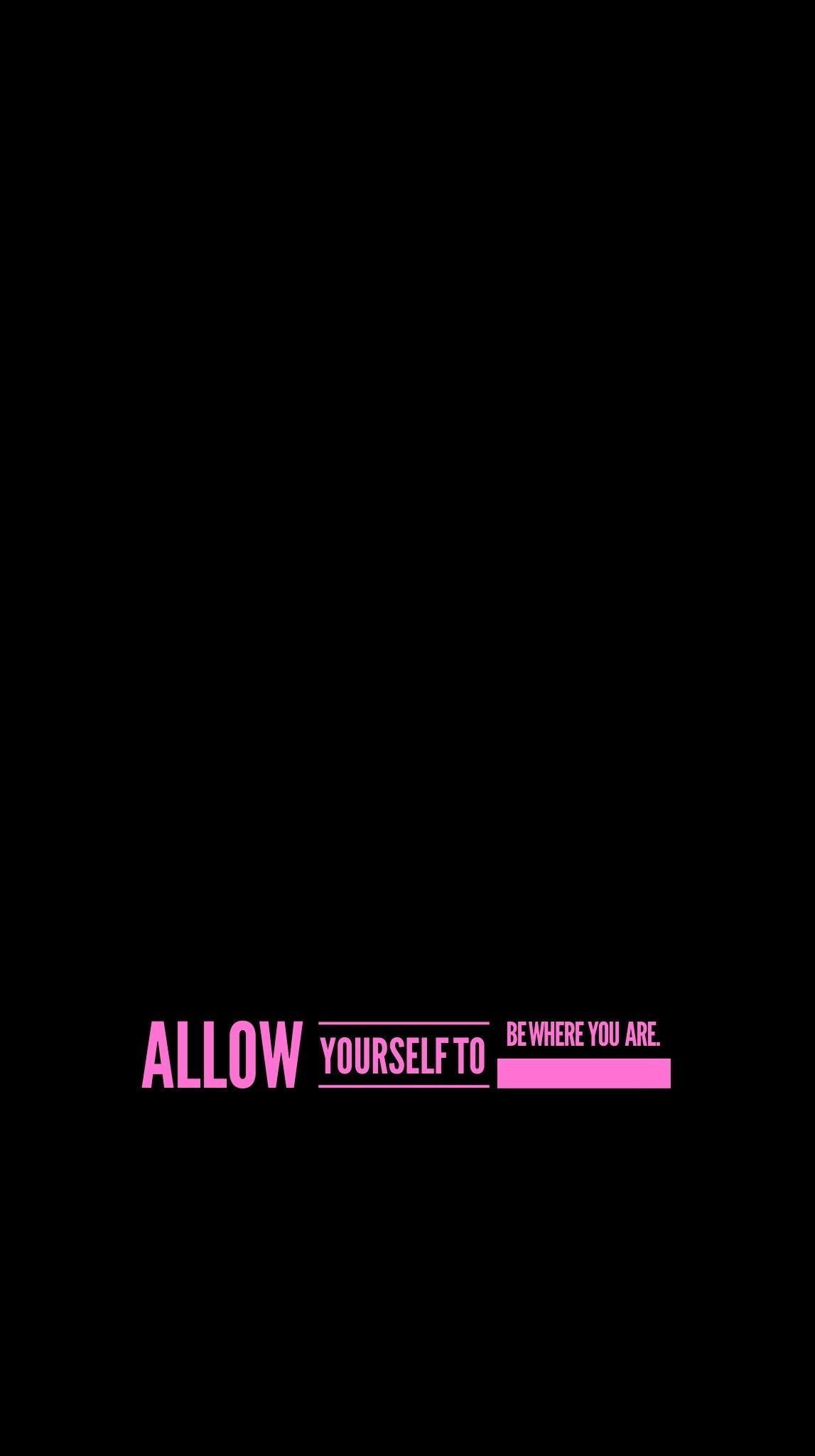 Res: 1147x2048,  wallpaper, iPhone, Android, background, quote, simple, black, pink