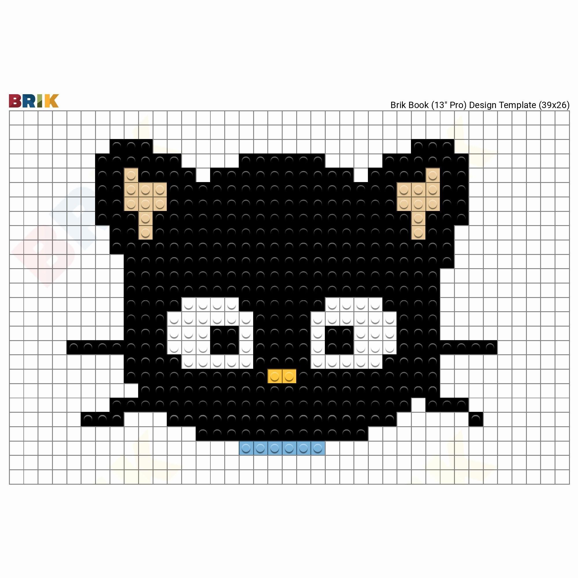 Res: 2000x2000, ... Cat Pixel Art Grid Awesome Chococat Pixel Art – Brik ...