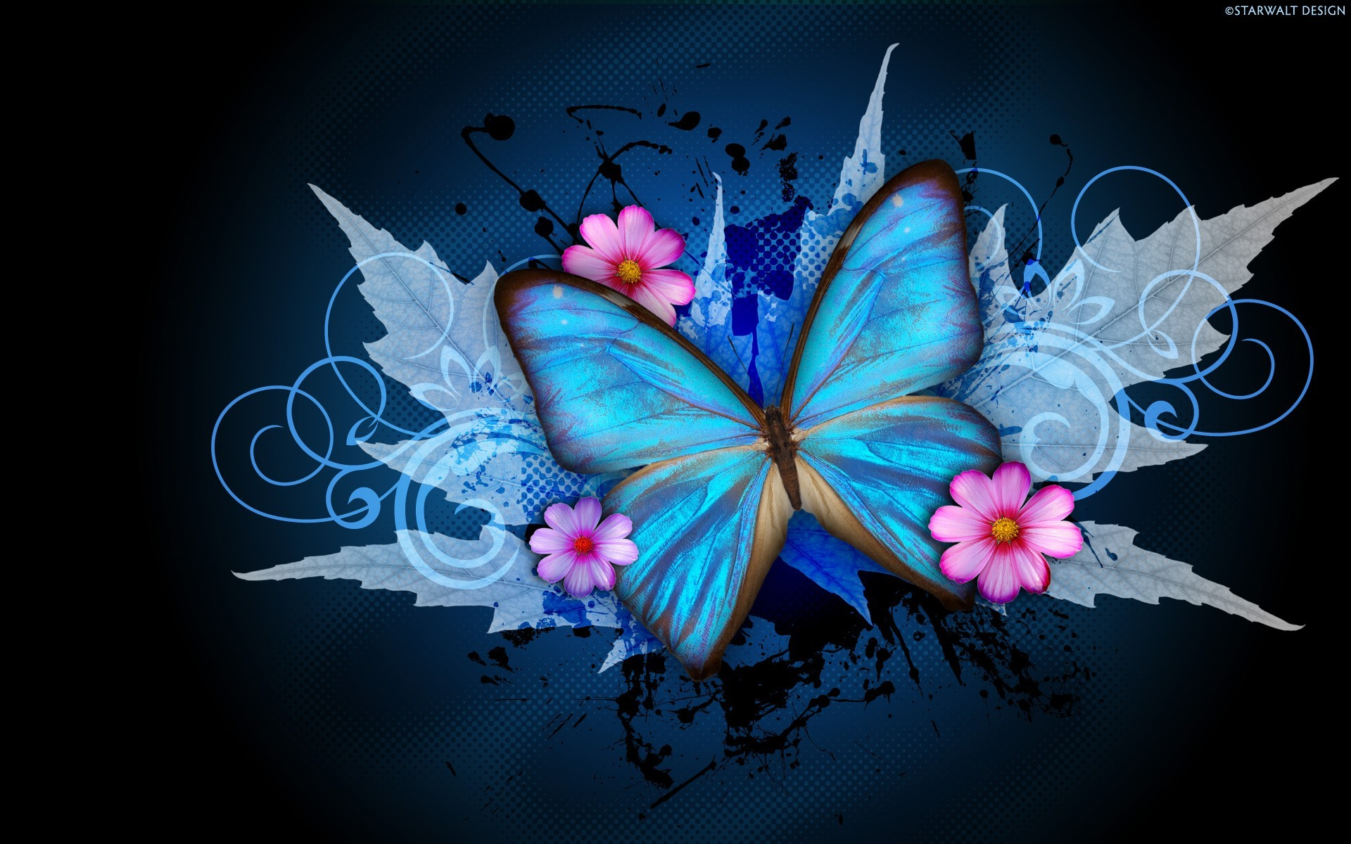 Res: 1920x1200, Abstract Butterfly Wallpaper