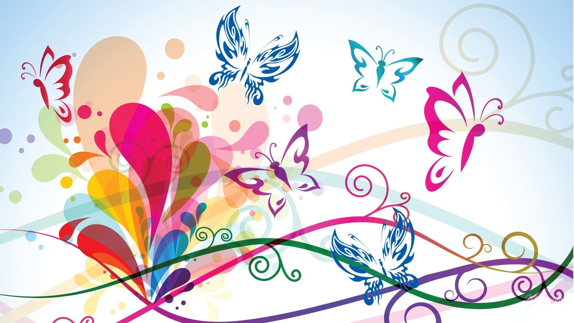 Res: 1920x1080, Abstract Butterfly wallpaper