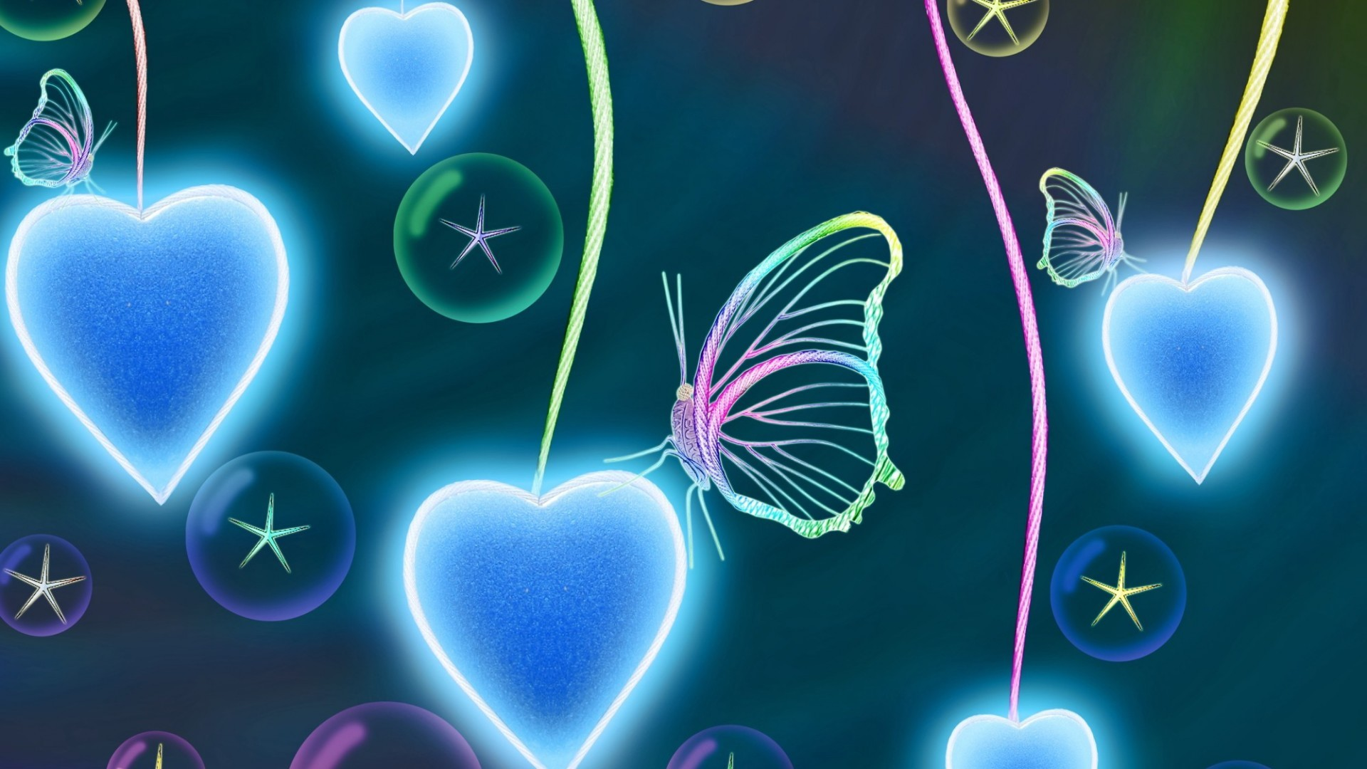 Res: 1920x1080, Abstract Butterfly Art #Image