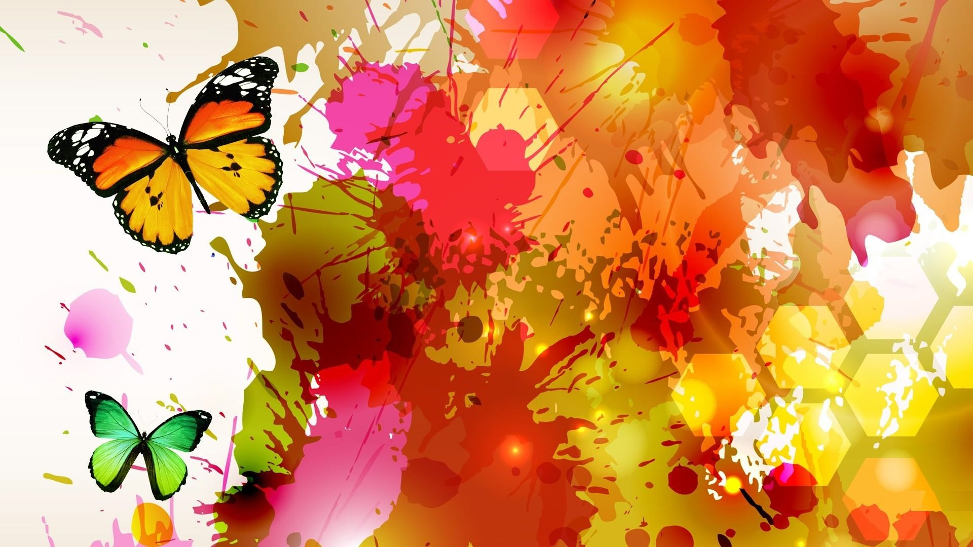 Res: 1920x1080, Hd Watercolor Art Abstract Butterfly Wallpapers.