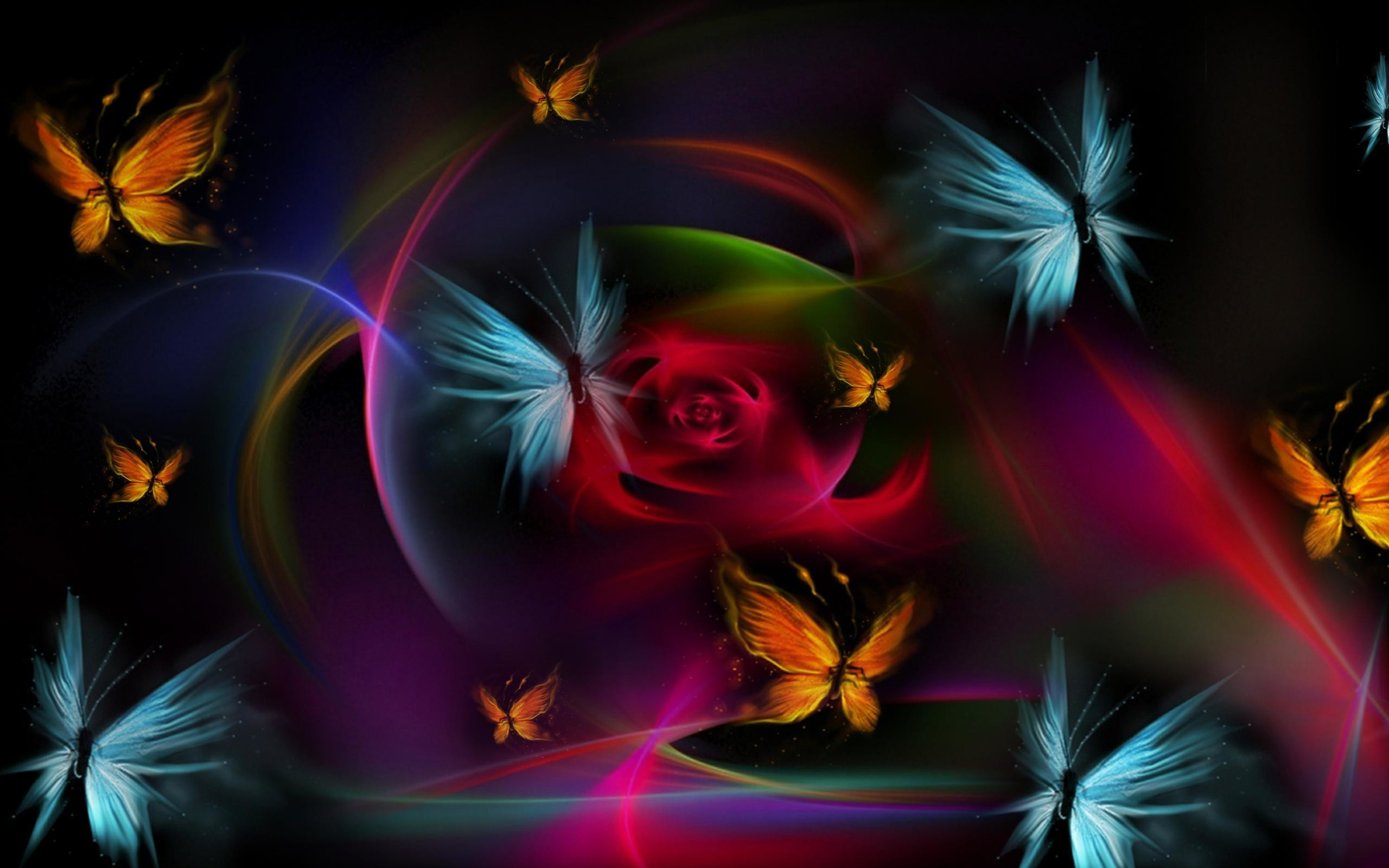 Res: 2560x1600, 3D Abstract Butterfly Wallpaper Backgrounds #19995 Wallpaper .