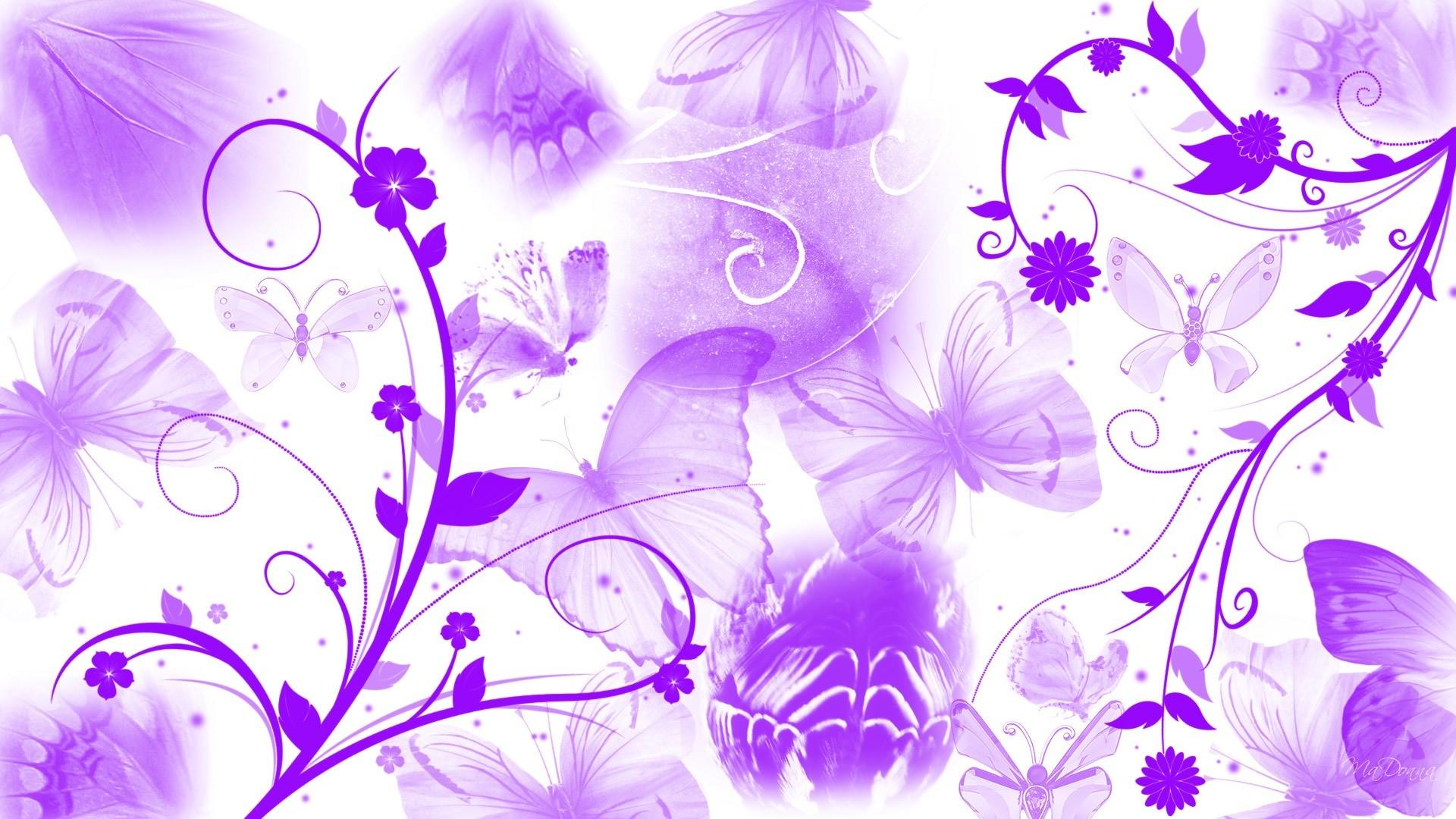 Res: 1920x1080, Purple Butterfly Wallpaper