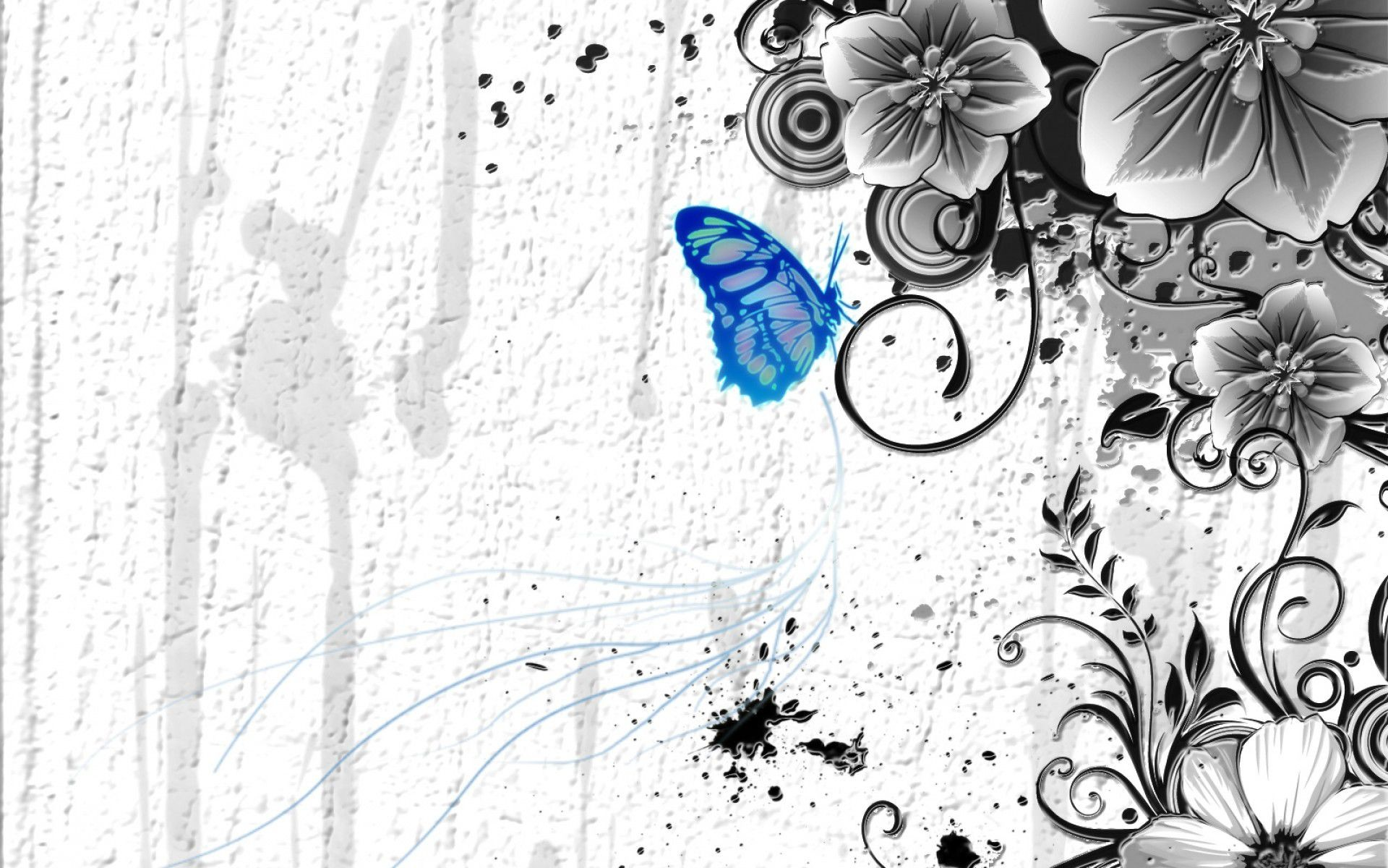 Res: 1920x1200, abstract blue butterfly