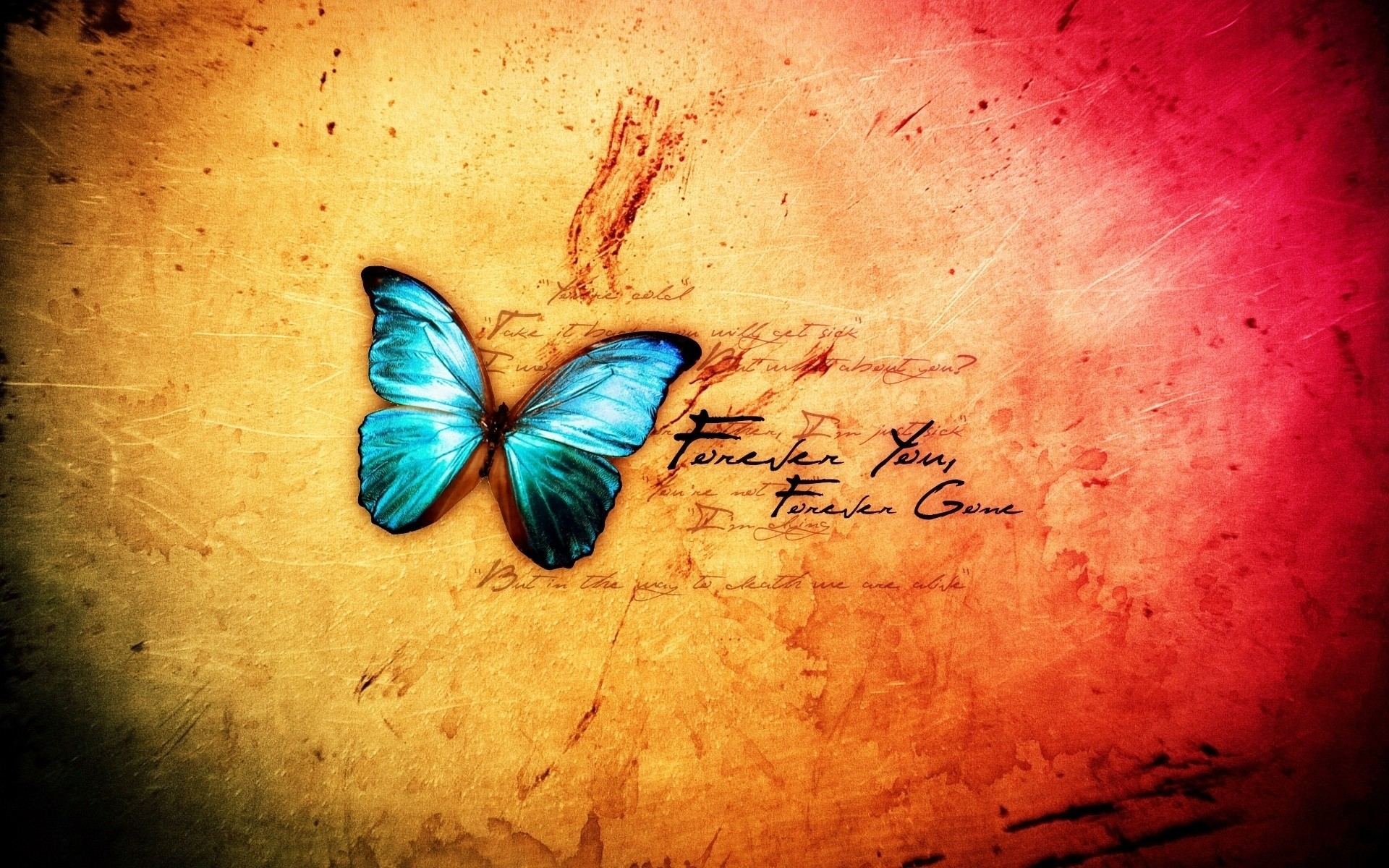Res: 1920x1200, Image: Abstract Blue Butterfly wallpapers and stock photos. Â«