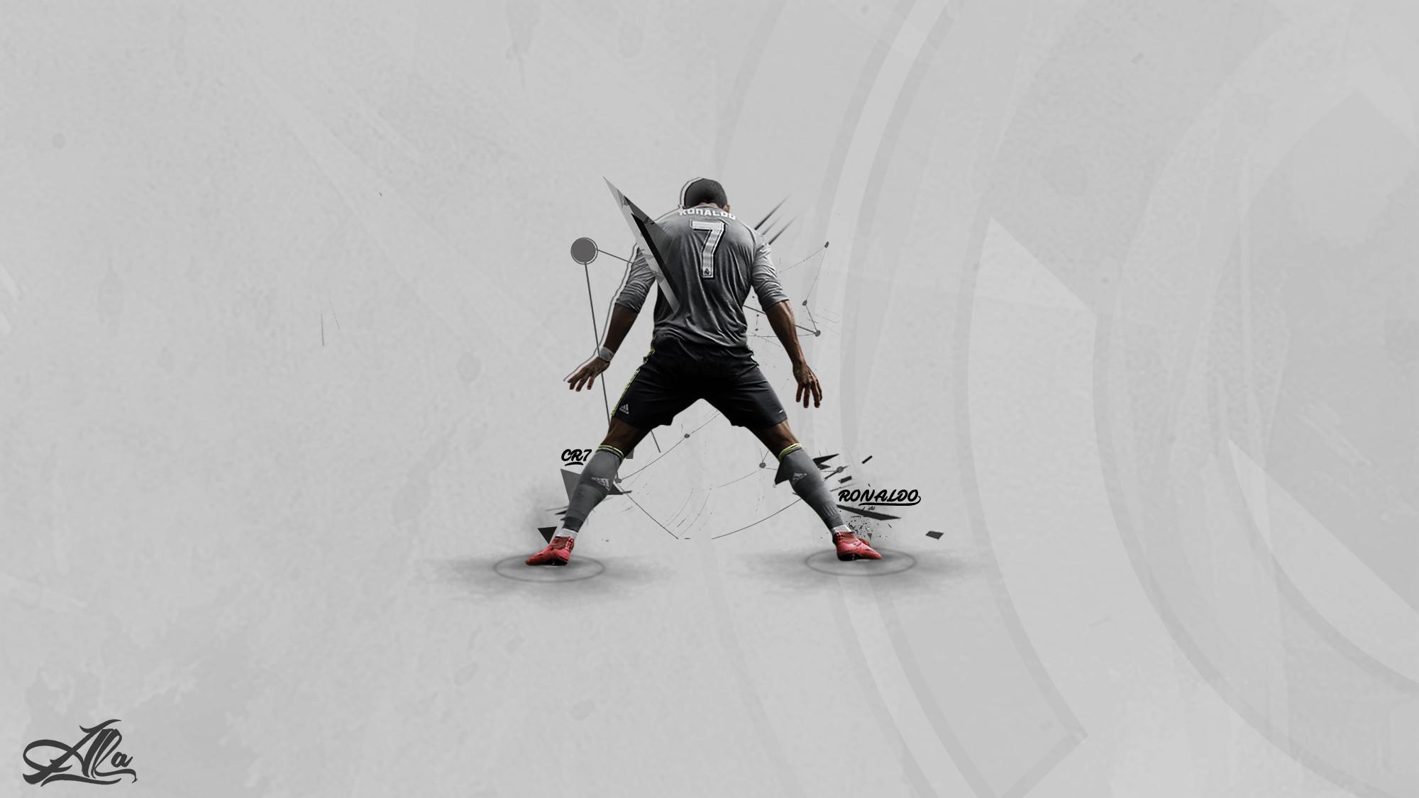 Res: 2000x1125, ... Cristiano Ronaldo , Real Madrid 15-2016 wallpaper by designer-alateewish
