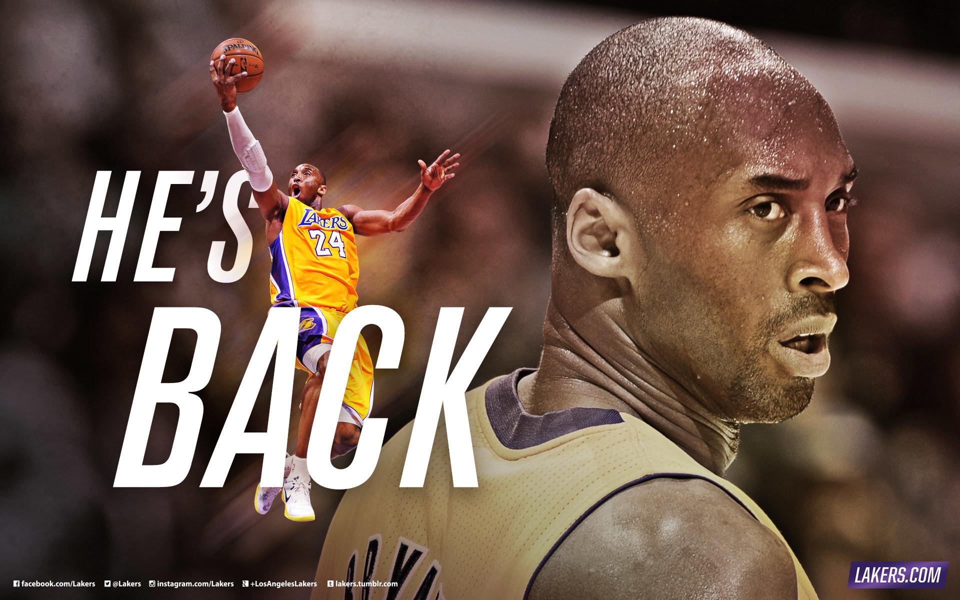 Res: 1920x1200, He's Back - Kobe Return Wallpaper