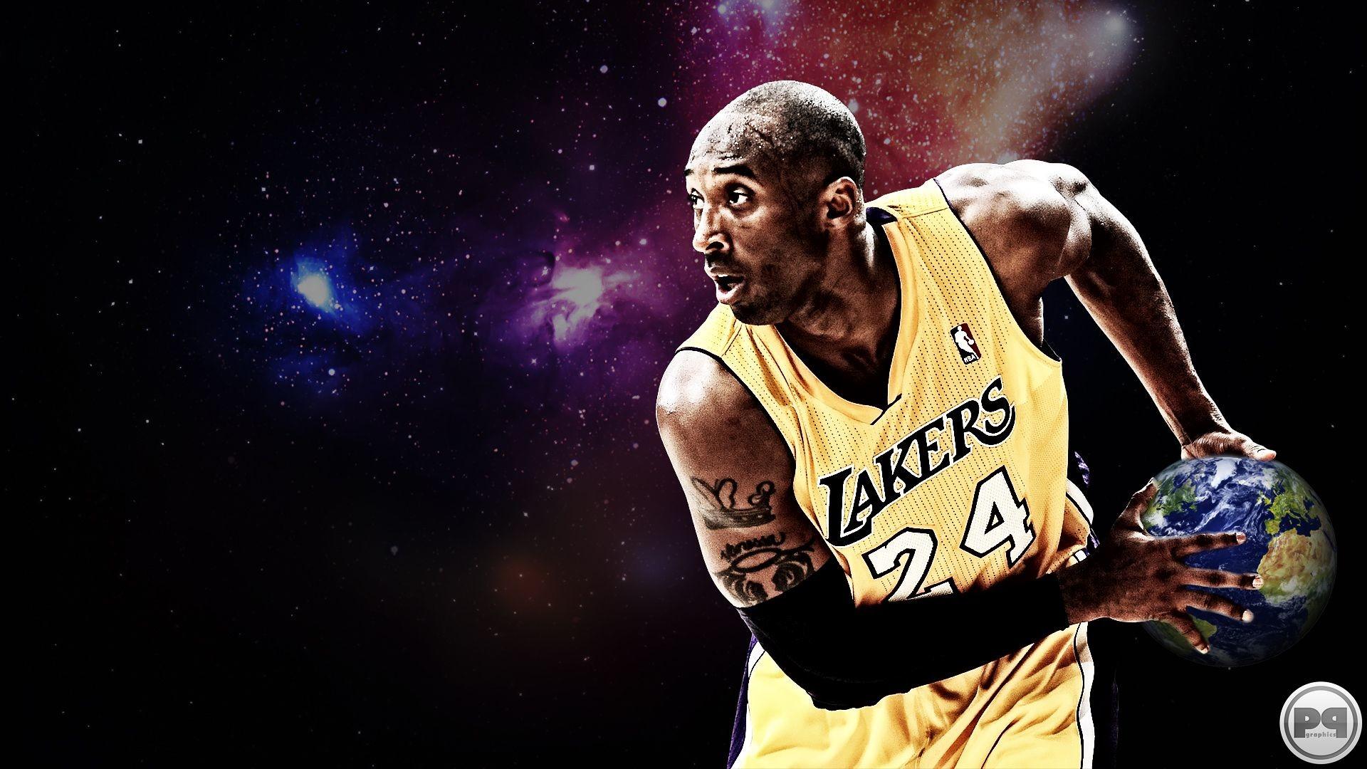 Res: 1920x1080, New NBA 2013 Kobe Bryant Los Angeles Lakers basketball wallpaper by  streetball fam member Pavan P Graphics. (1920×1080)