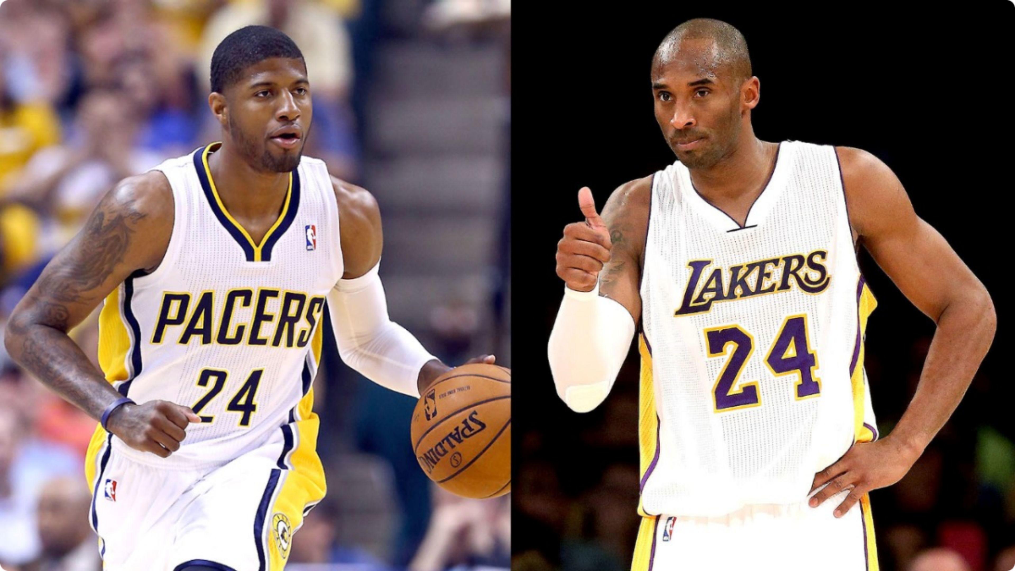 Res: 3840x2160, Paul George vs La Lakers Kobe Bryant 4K Wallpaper