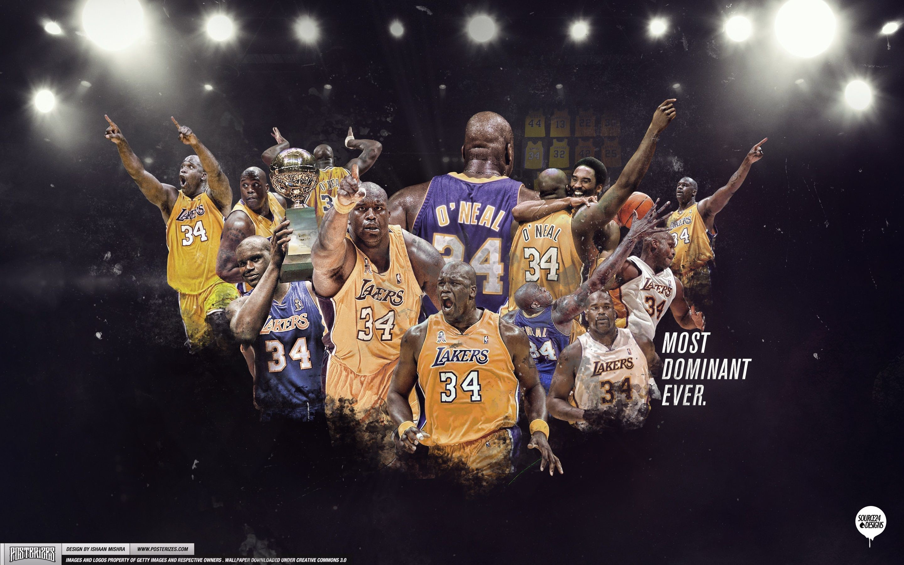 Res: 2880x1800, Shaquille O'neal Lakers Wallpaper - Live Wallpaper HD