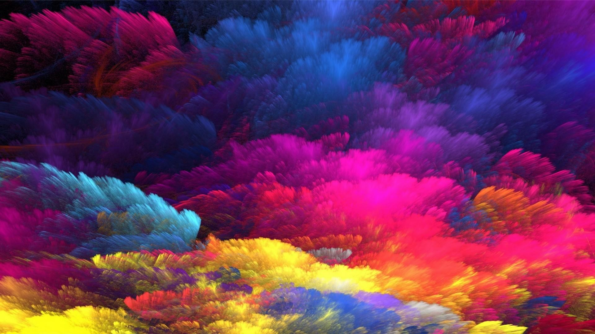 Res: 1920x1080, Rainbow Colors Abstract Art Wallpaper | Wallpaper Studio 10 | Tens of  thousands HD and UltraHD wallpapers for Android, Windows and Xbox