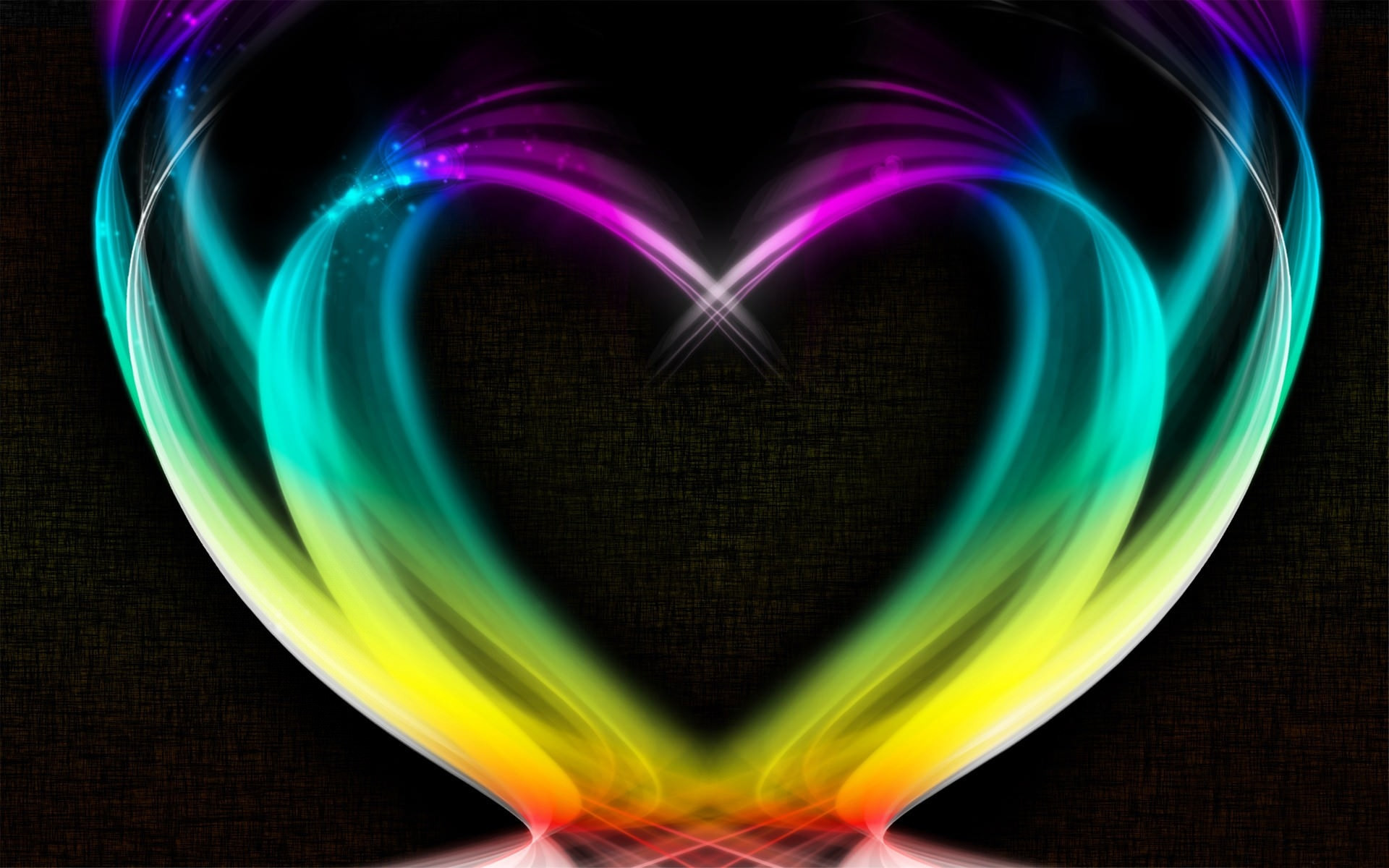Res: 1920x1200, heart shape rainbow colored wallpaper