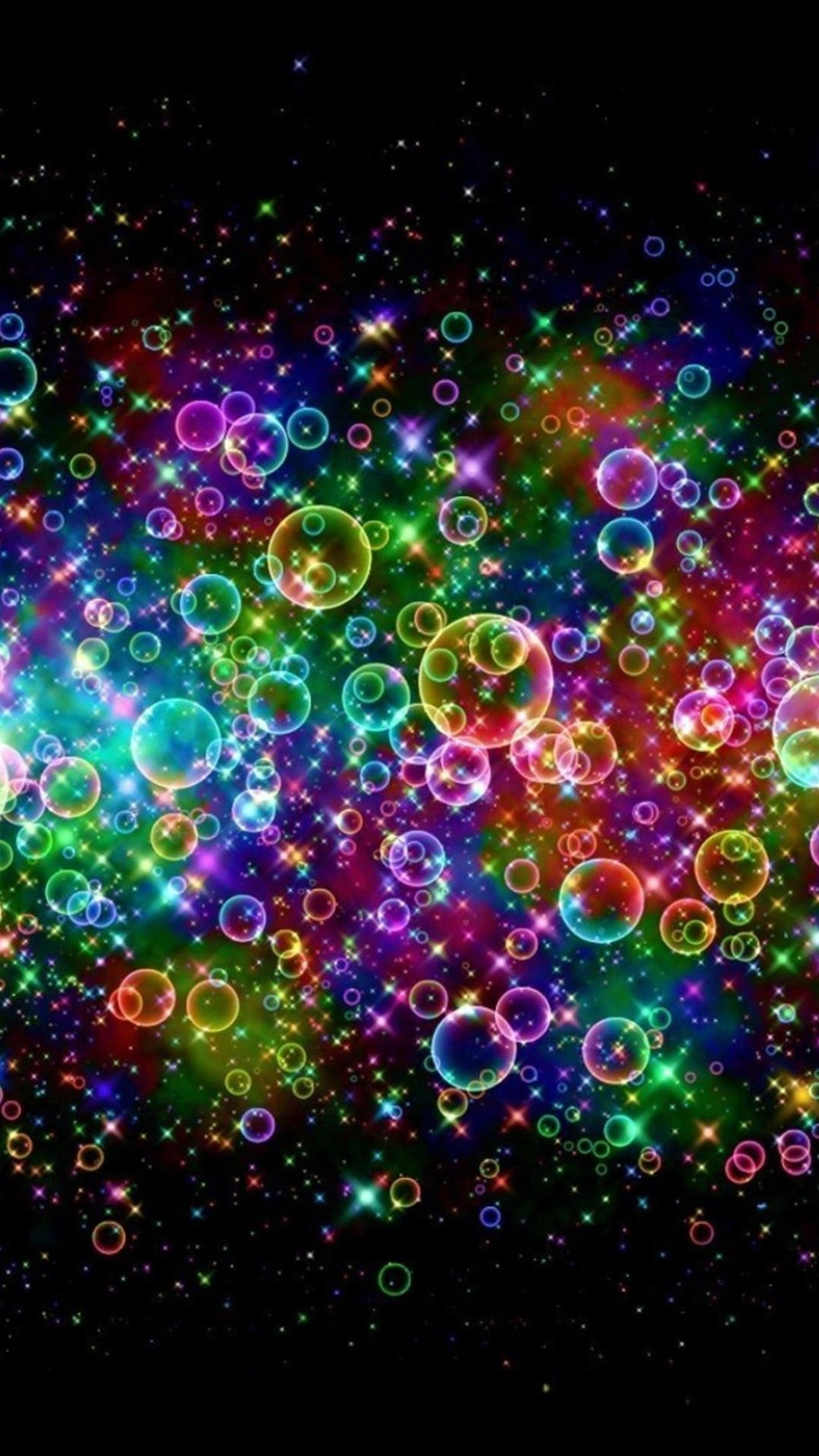 Res: 1080x1920, Rainbow Colored Soap Bubbles Android Wallpaper ...