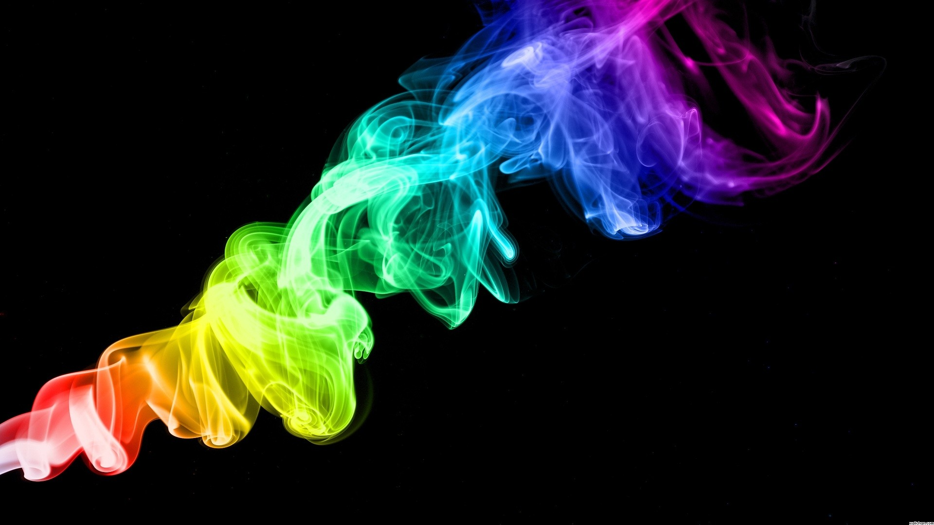 Res: 1920x1080, Smoke Rainbow Color Wallpaper Free