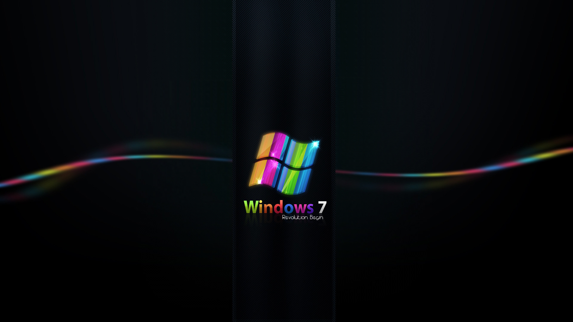 Res: 1920x1080, Rainbow Colored Windows 7
