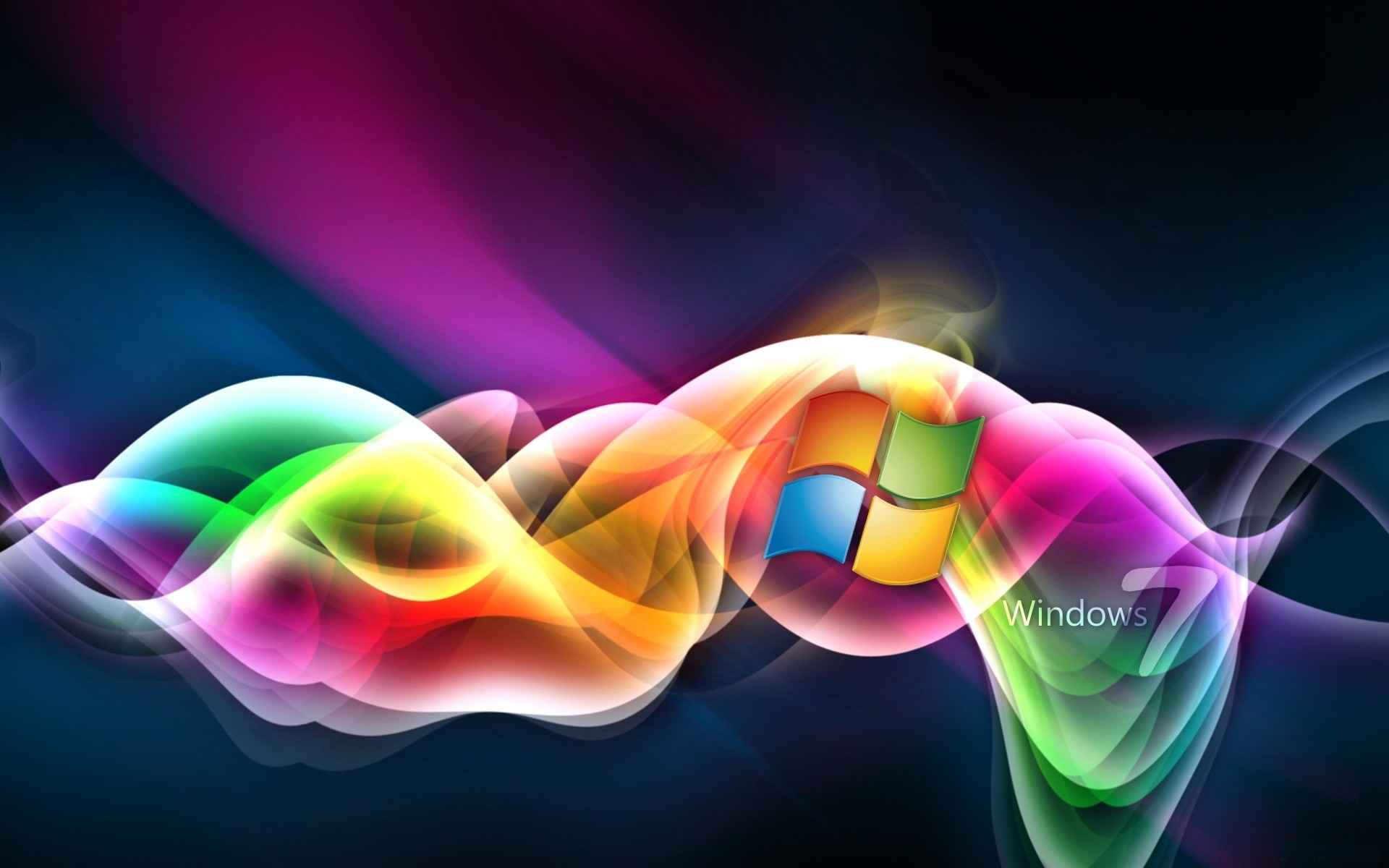 Res: 1920x1200, Rainbow Colored Windows 7
