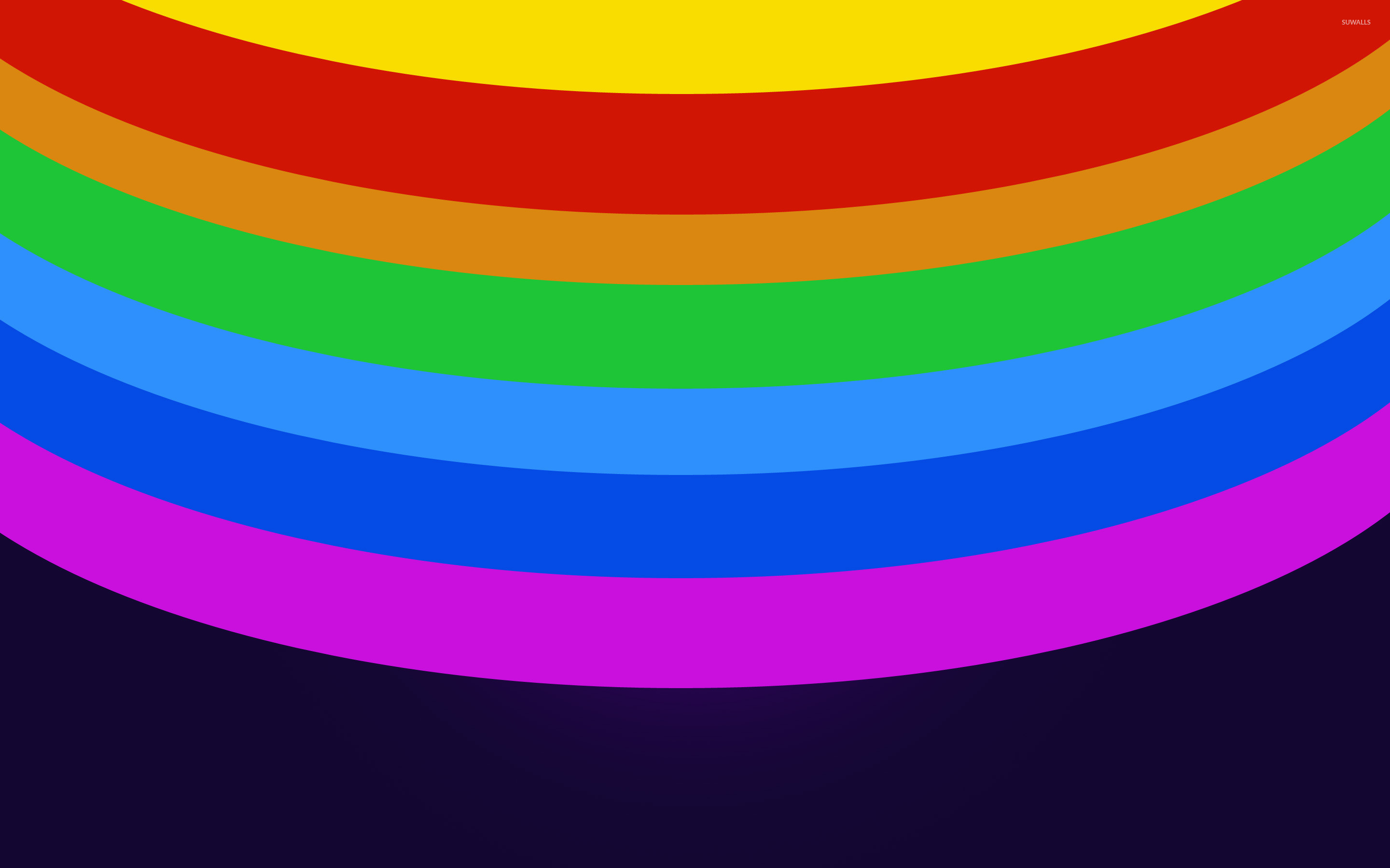 Res: 2880x1800, Rainbow colored circles [2] wallpaper