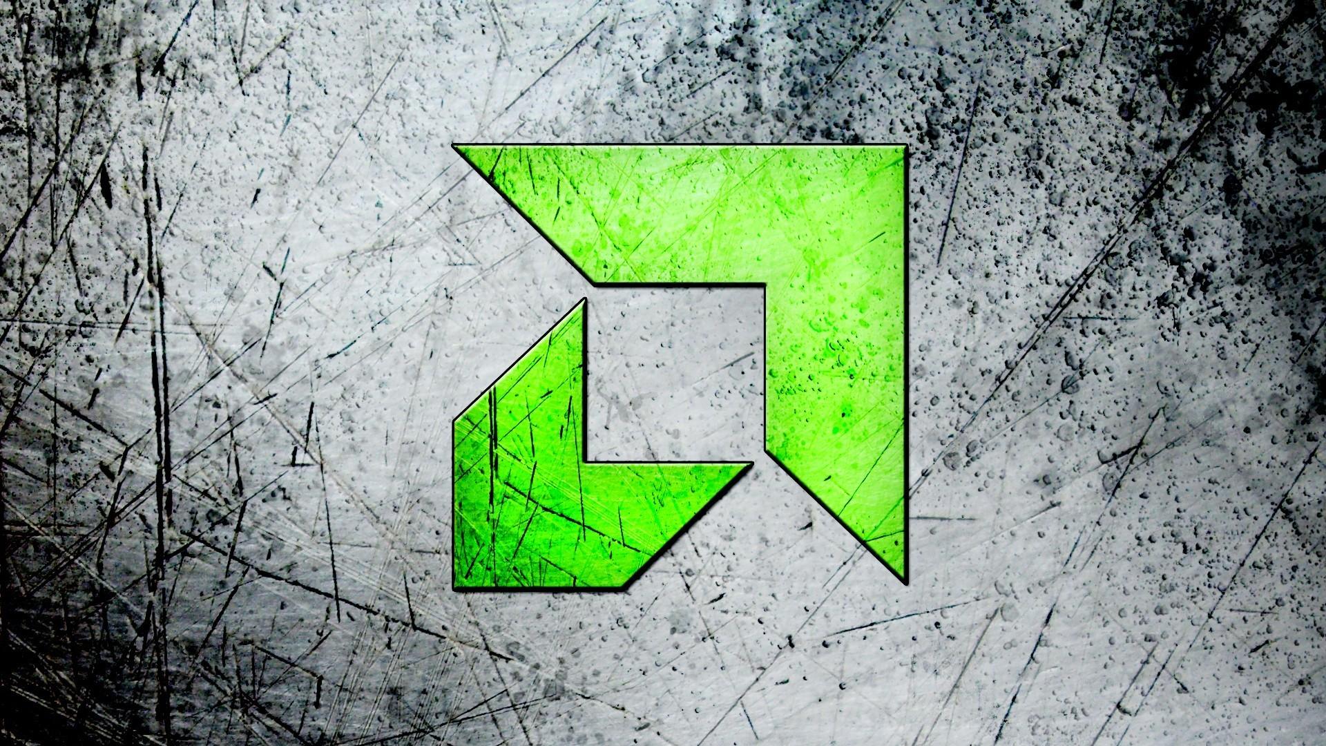 Res: 1920x1080, Green AMD symbol HD Wallpaper