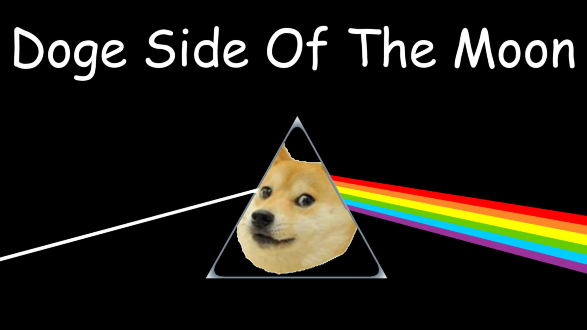 Res: 1920x1080, Doge Side of the Moon, After all it's just another doge in the wall.