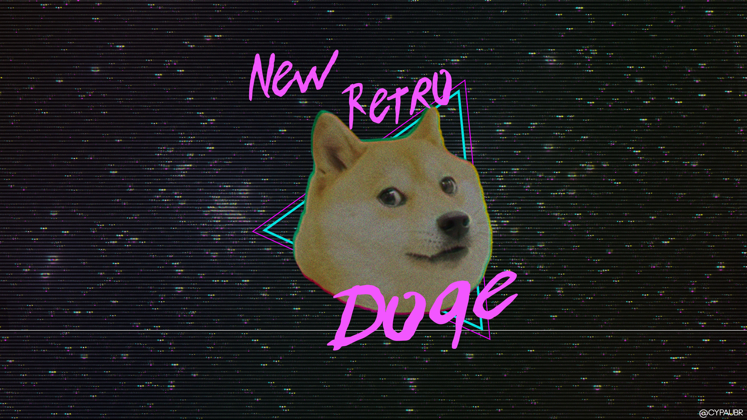 Res: 2560x1440, doge retro style new retro wave animals dog shiba inu vhs wallpaper and  background