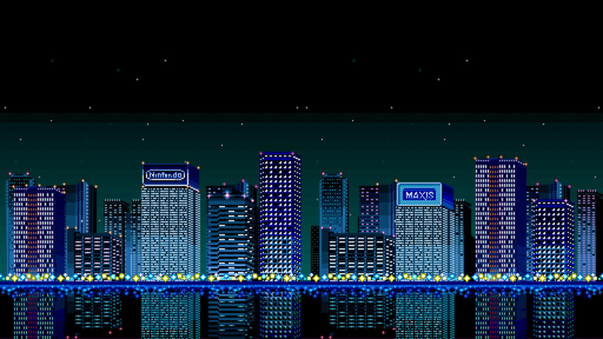 Res: 1920x1080, Super NES SimCity Wallpaper for Your Desktop