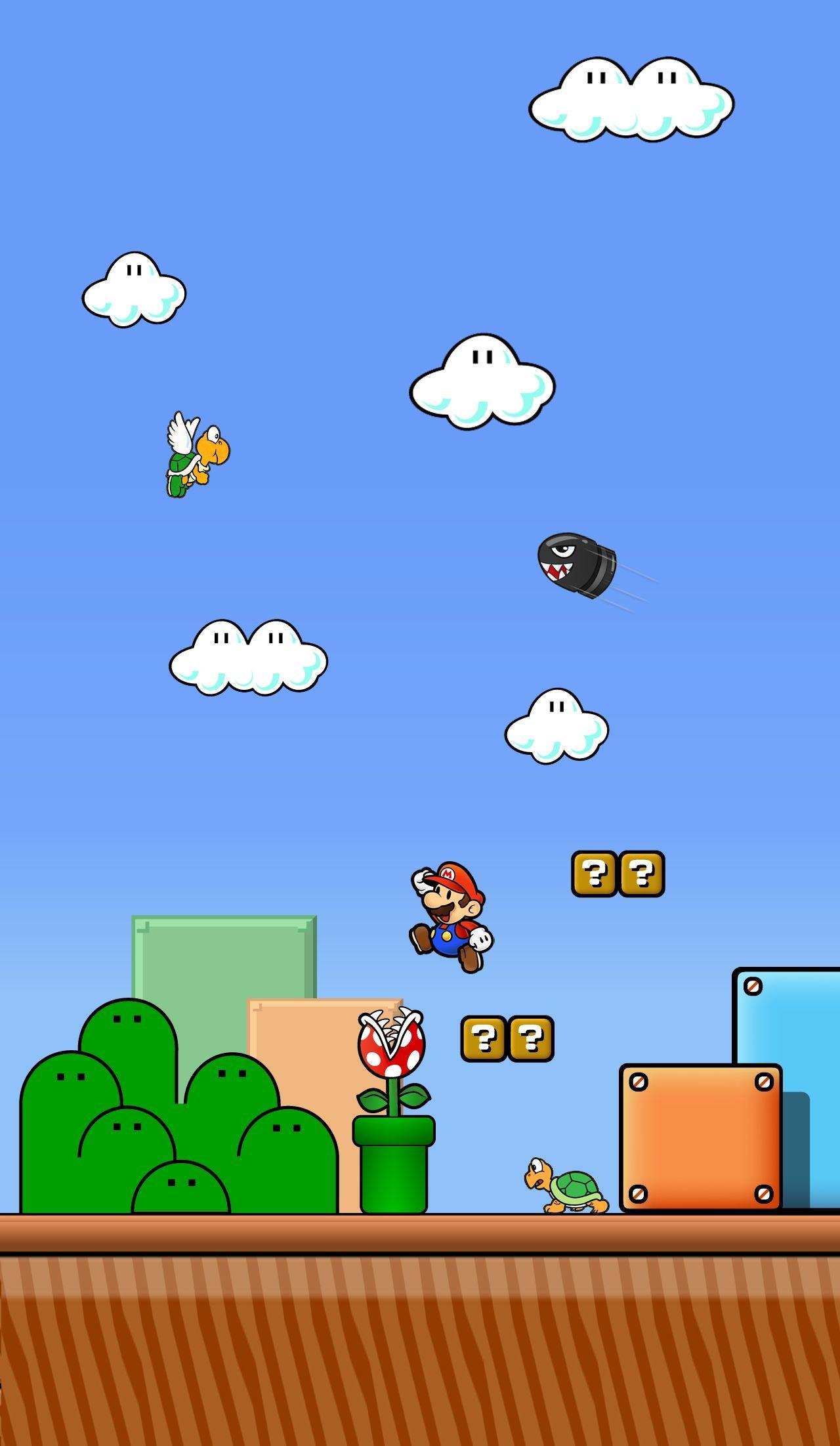 Res: 1280x2203, Super Mario World Wallpaper
