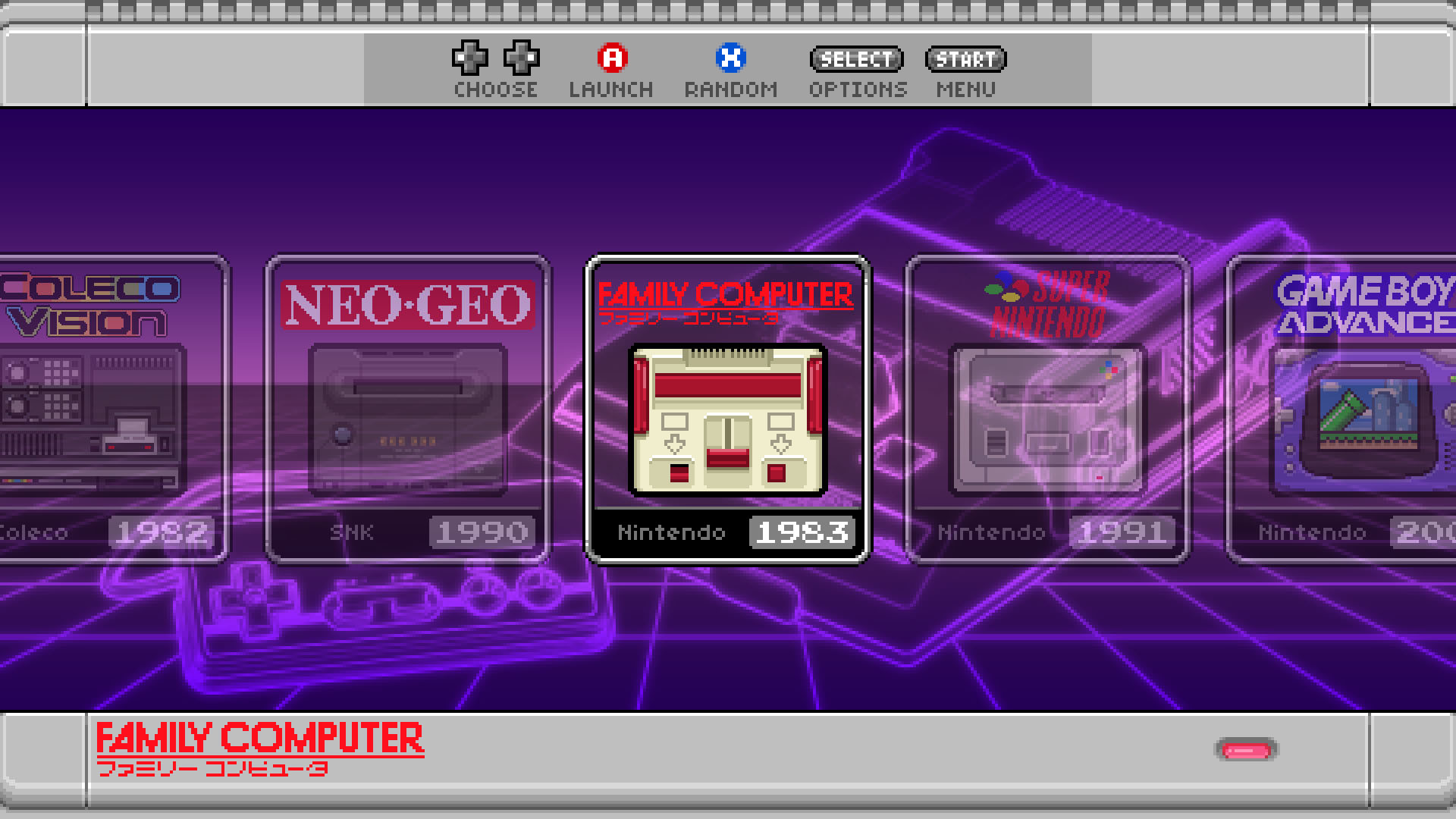 Res: 1920x1080, SNES mini theme